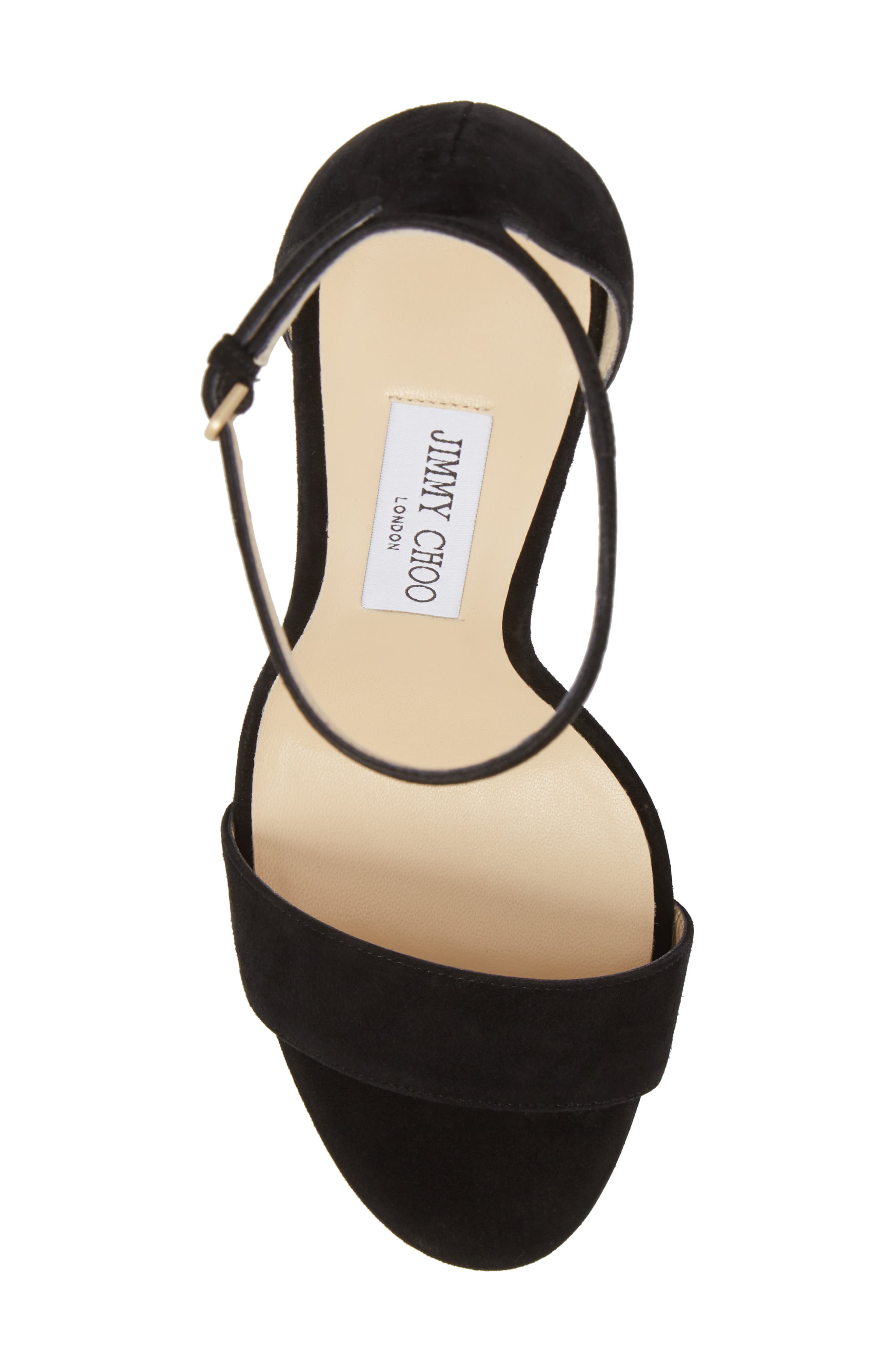 Misty Platform Sandal,                             Alternate thumbnail 5, color,                             BLACK