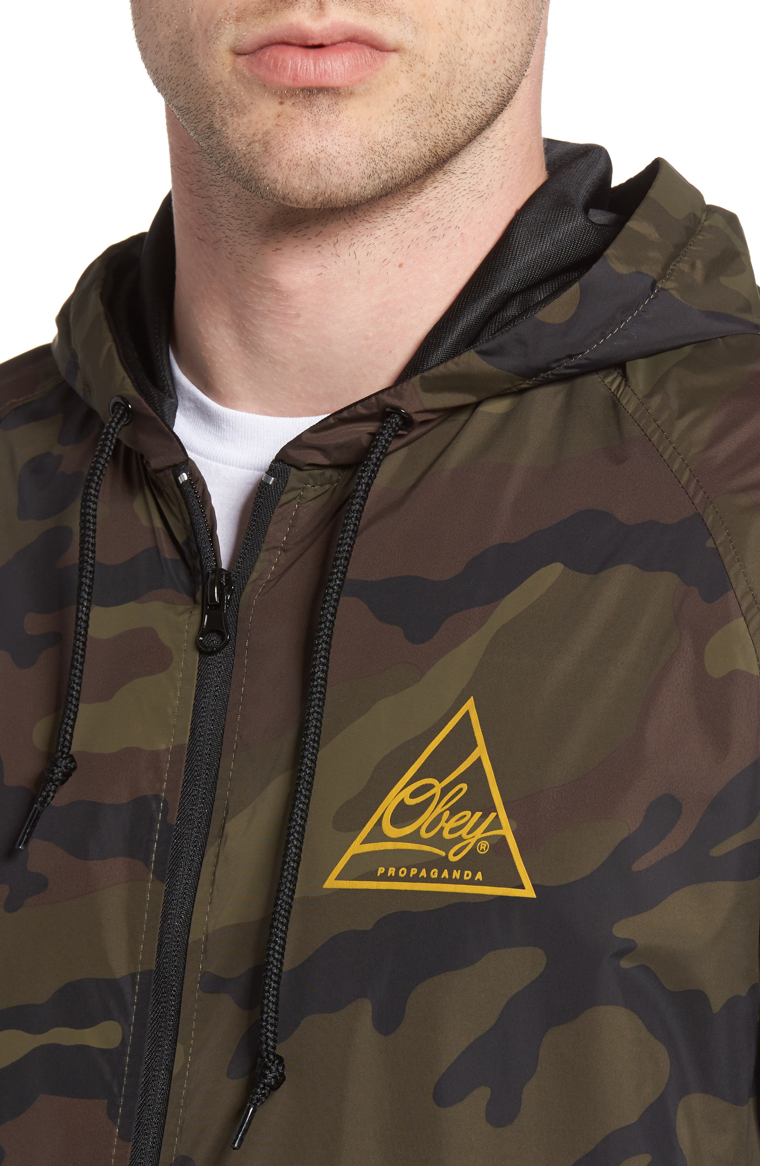 Next Round 2 Hooded Coach Jacket,                             Alternate thumbnail 5, color,                             305