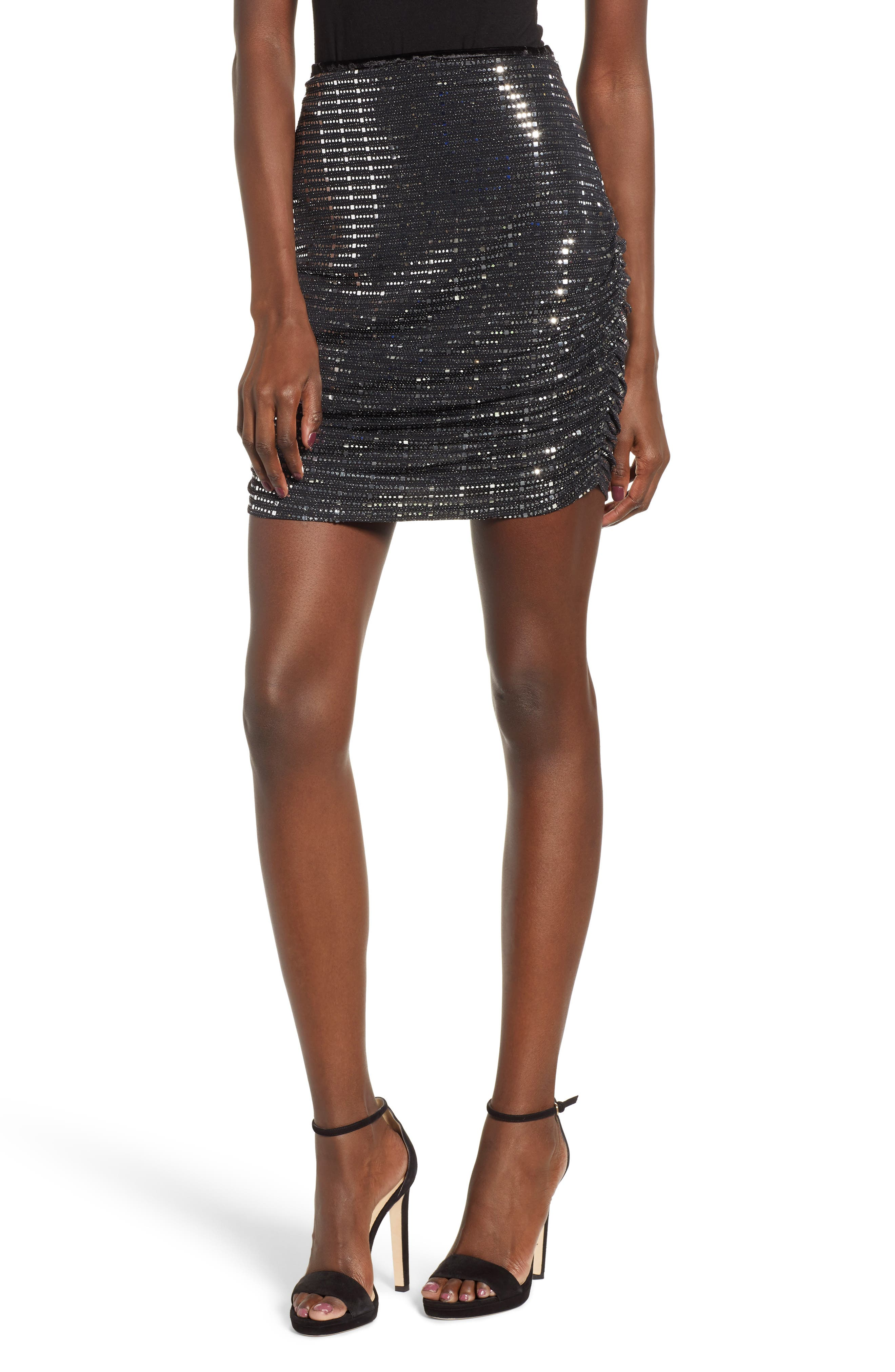 Sequin Pencil Skirt,                             Main thumbnail 1, color,                             020