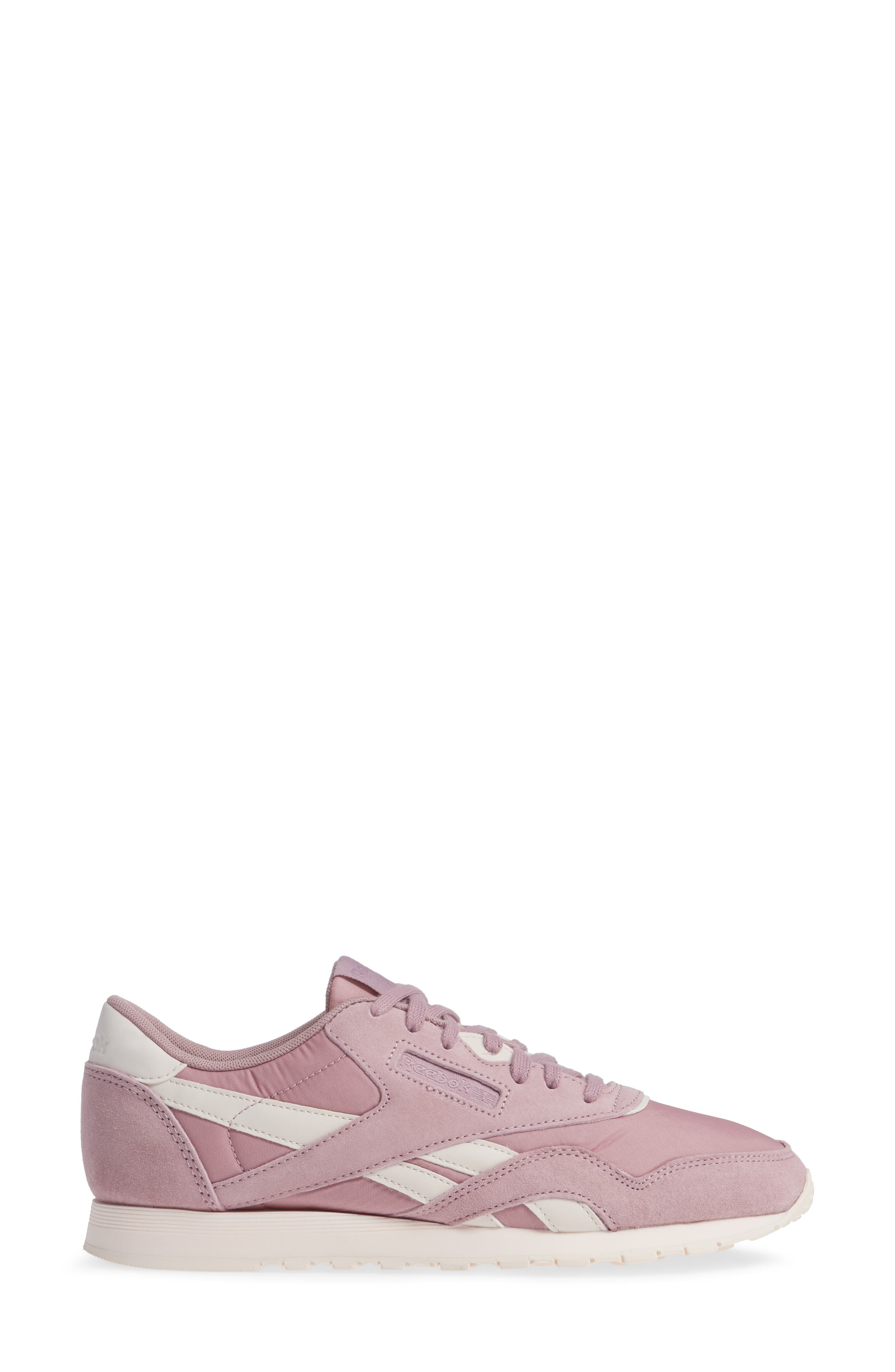 Classic Sneaker,                             Alternate thumbnail 3, color,                             INFUSED LILAC/ PALE PINK