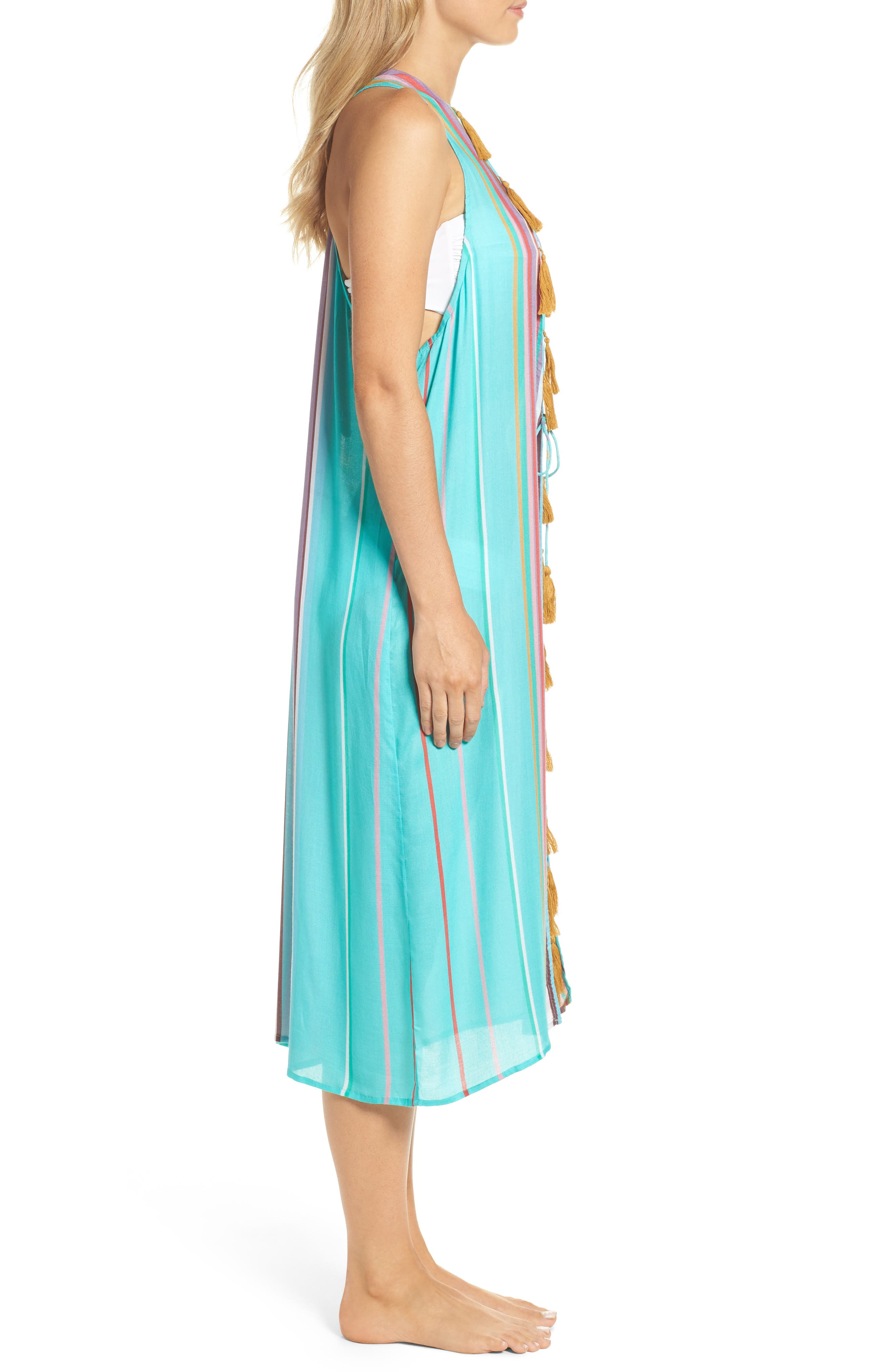 Sayulita Midi Vest Cover-Up,                             Alternate thumbnail 3, color,                             440