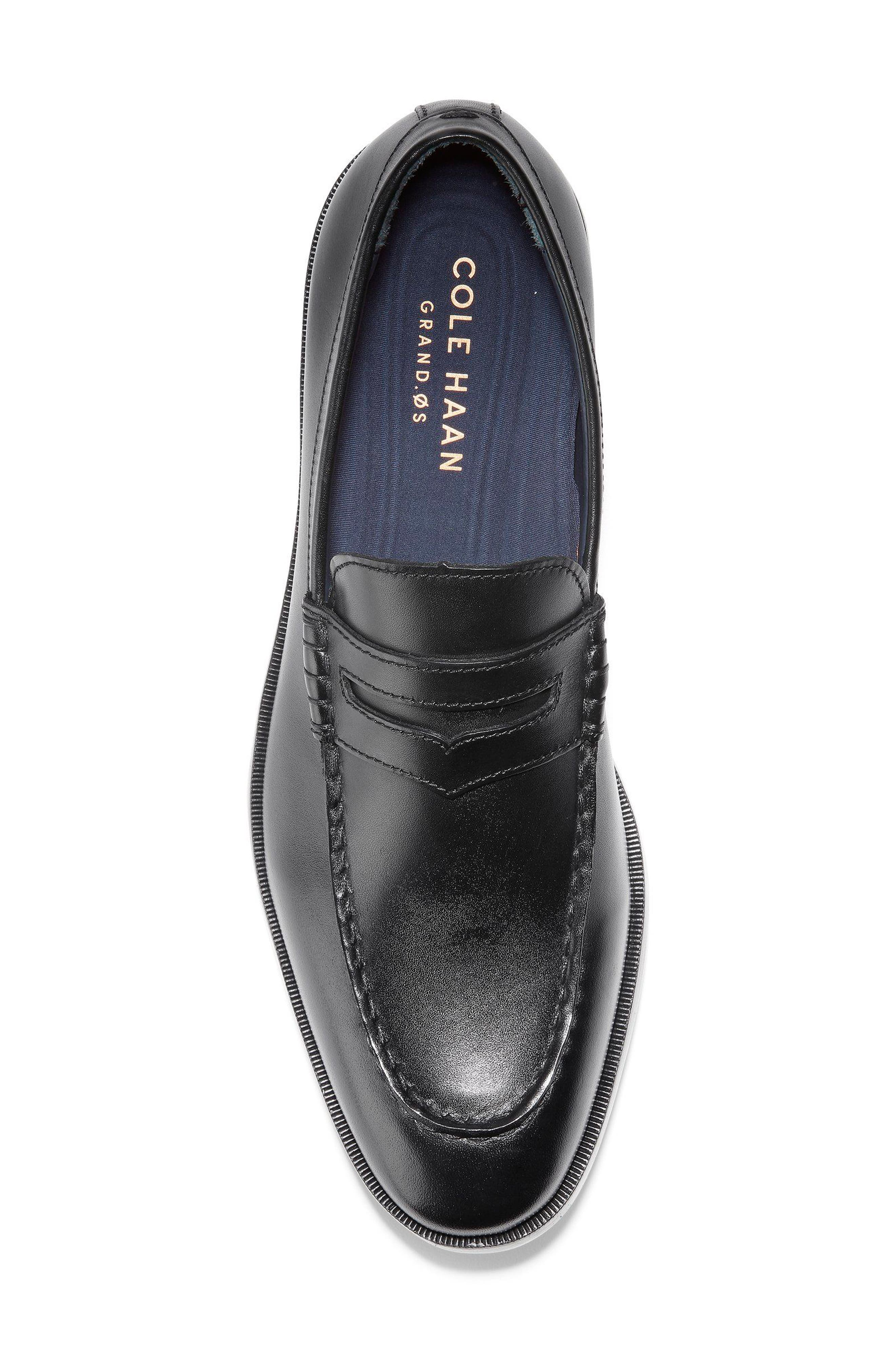 Hamilton Grand Penny Loafer,                             Alternate thumbnail 5, color,                             001