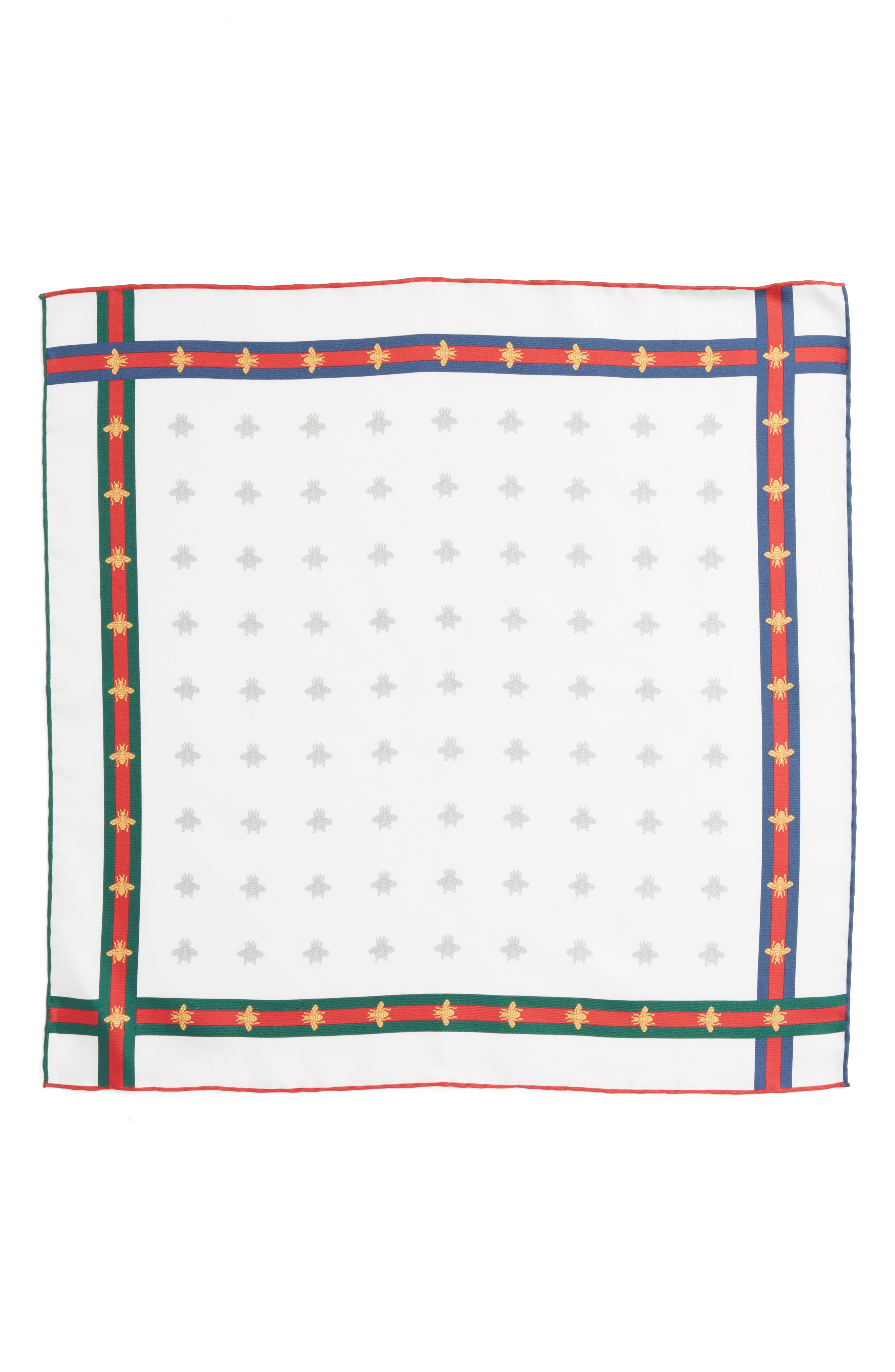 Runebis Silk Twill Pocket Square,                             Alternate thumbnail 10, color,