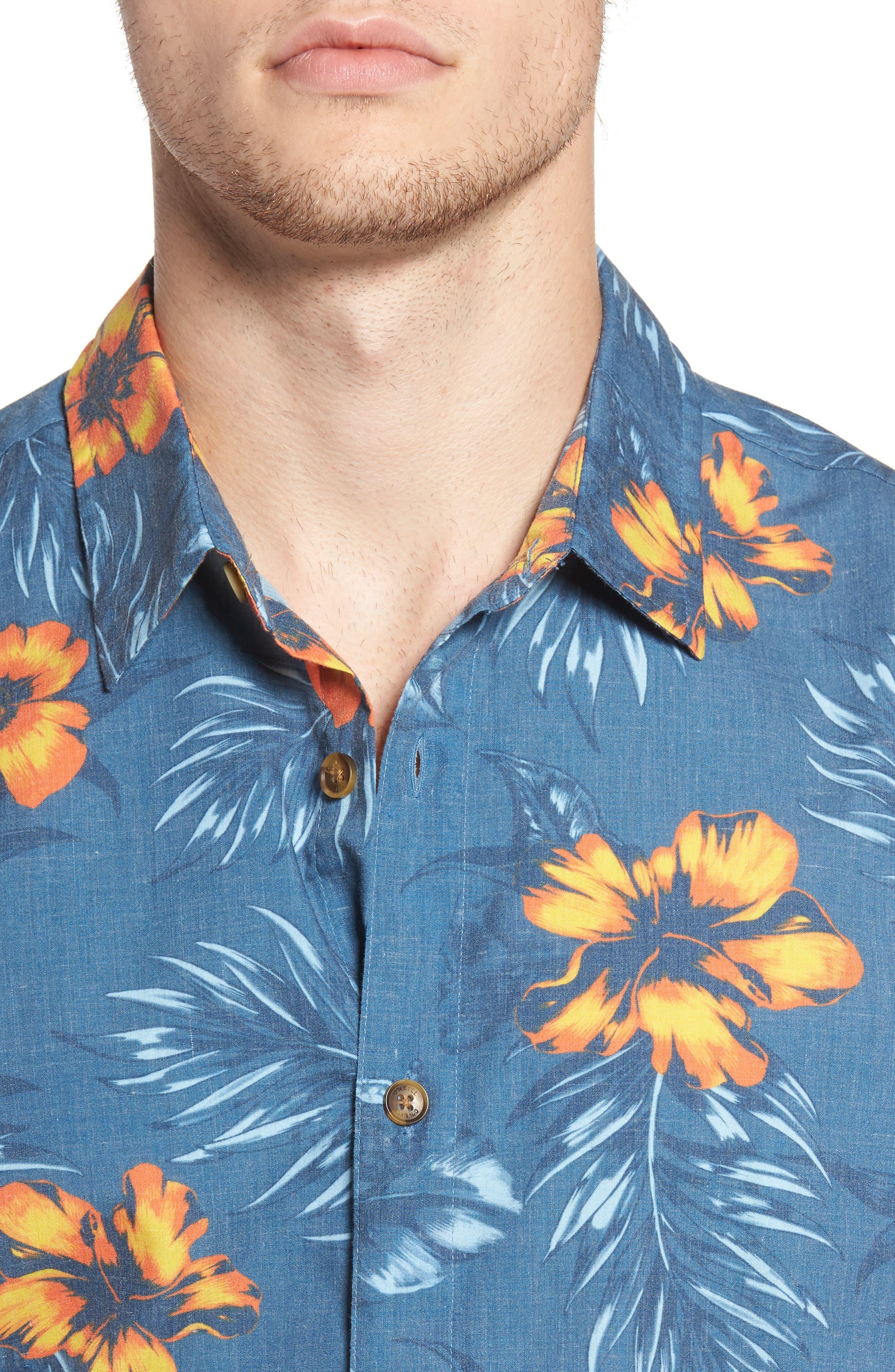 Ala Moana Floral Sport Shirt,                             Alternate thumbnail 4, color,                             439
