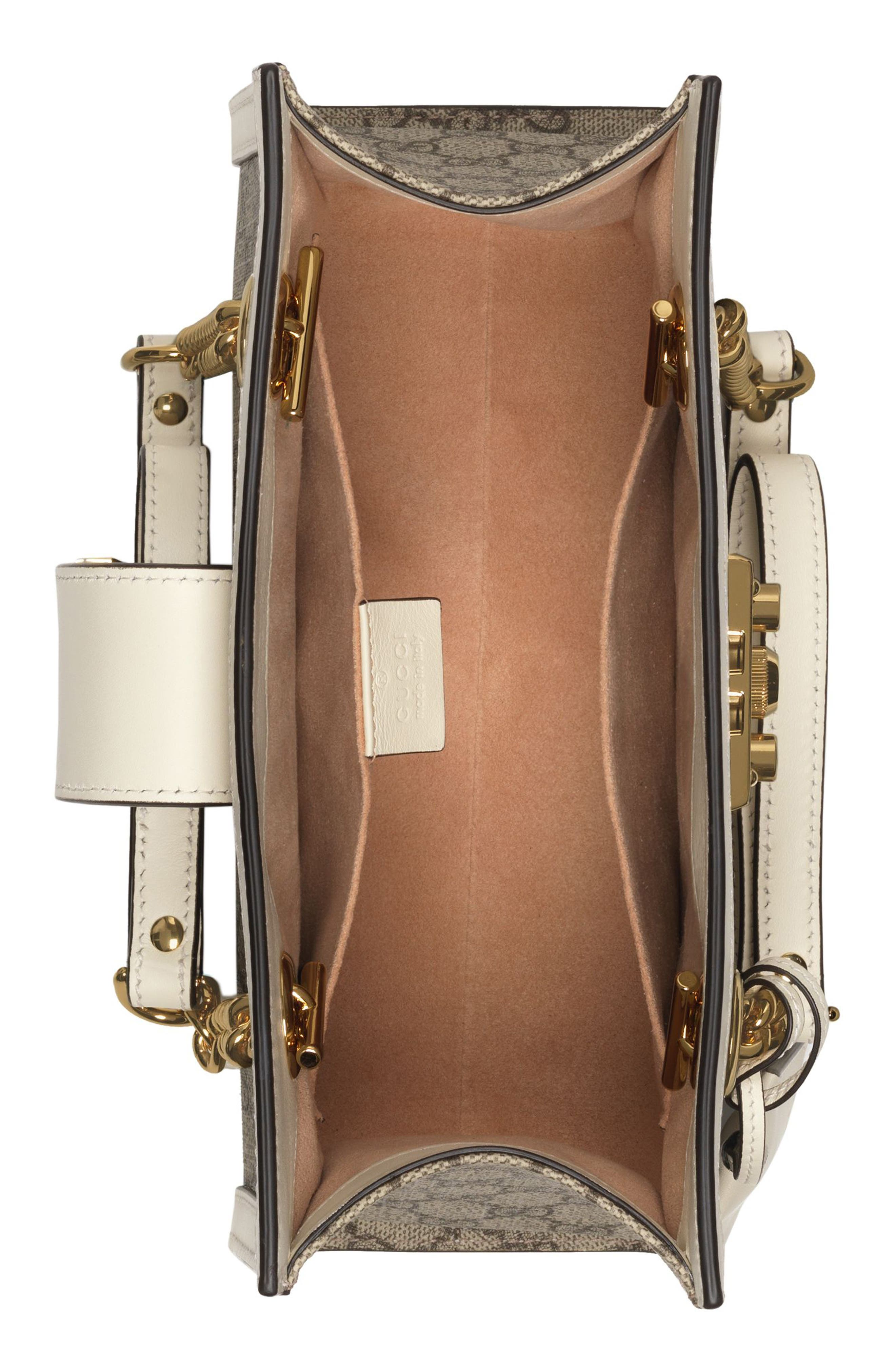 Small Padlock GG Supreme Shoulder Bag,                             Alternate thumbnail 3, color,                             BEIGE EBONY/ MYSTIC WHITE
