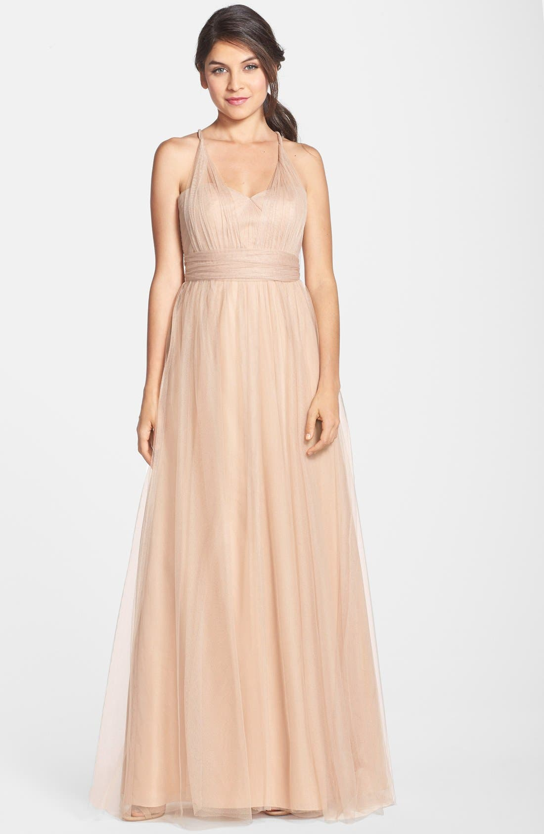 Annabelle Convertible Tulle Column Dress,                             Alternate thumbnail 78, color,
