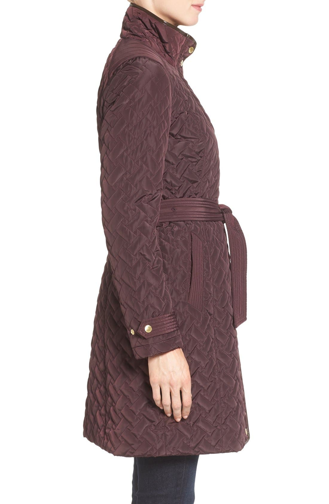 Belted Quilted Coat,                             Alternate thumbnail 19, color,