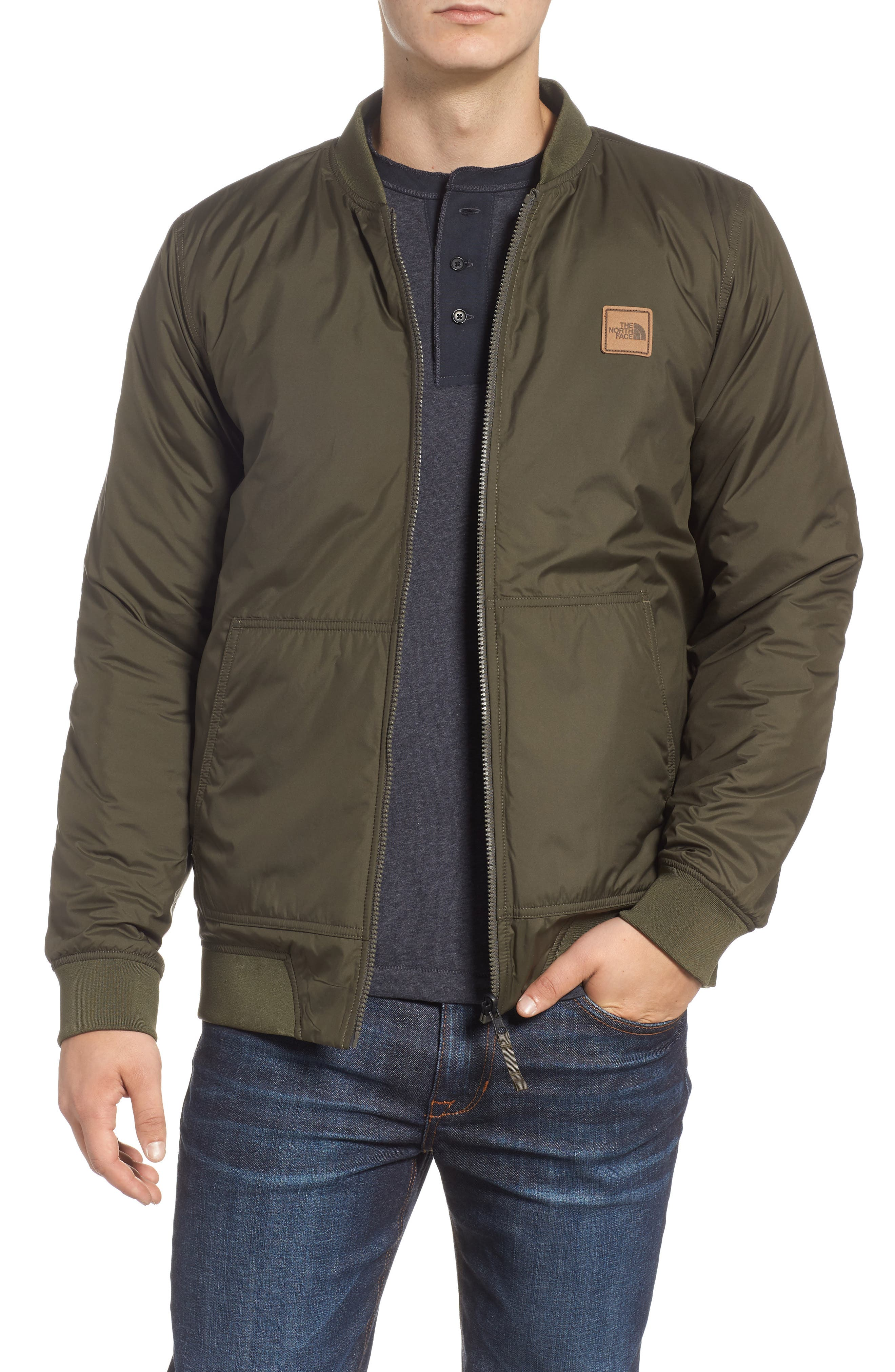 THE NORTH FACE,                             Jester Reversible Bomber Jacket,                             Alternate thumbnail 2, color,                             NEW TAUPE GREEN