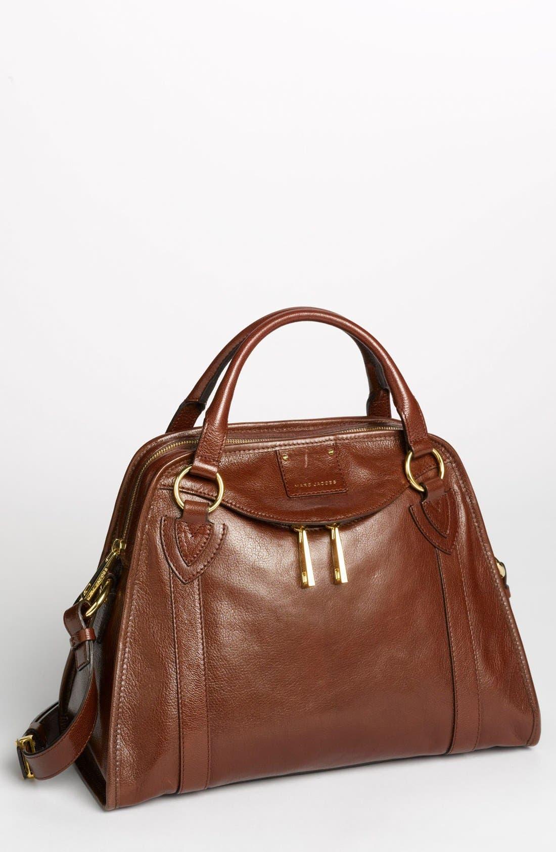 'Classic Wellington' Leather Satchel,                             Main thumbnail 6, color,
