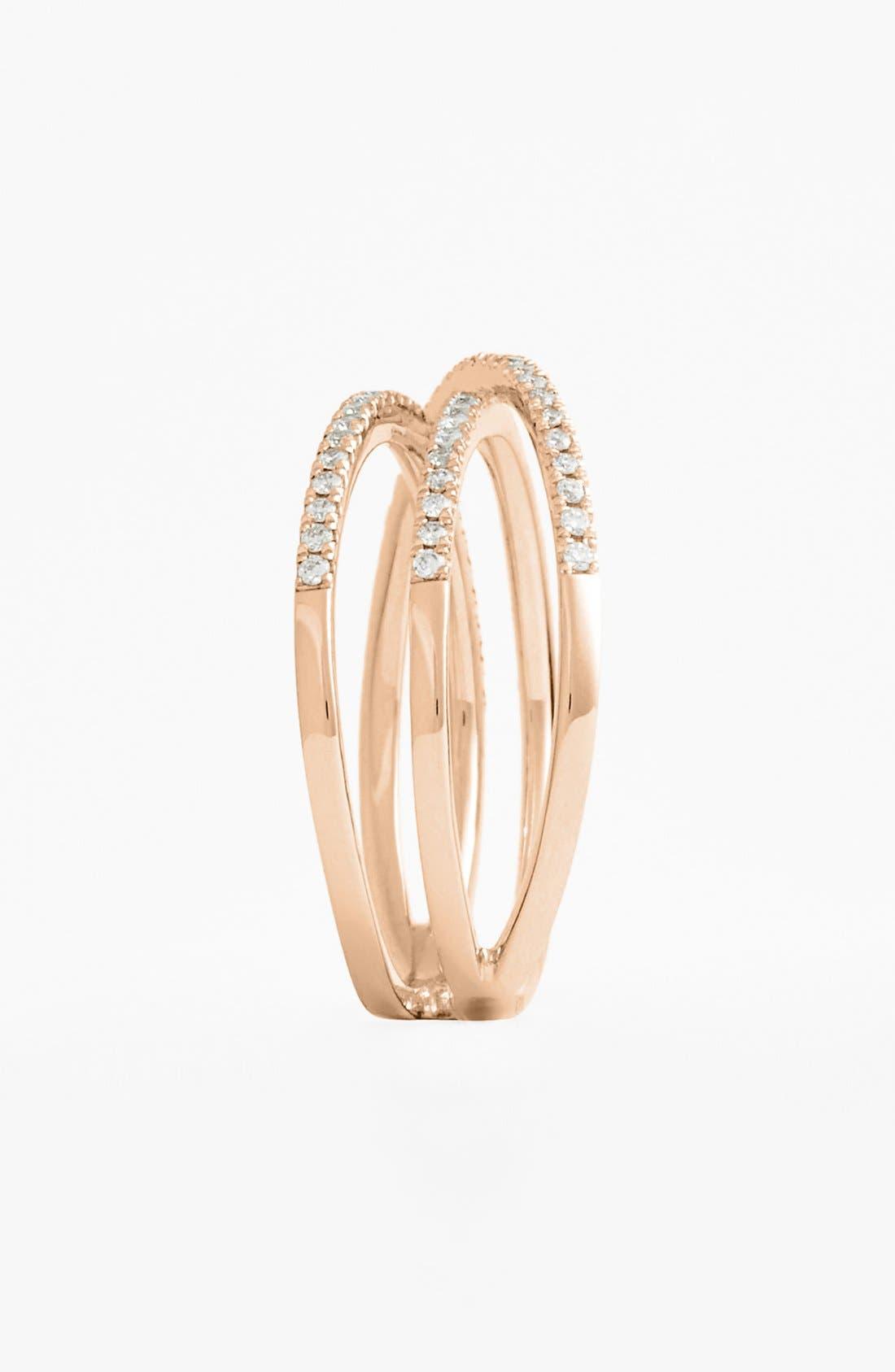 Crossover Three-Row Diamond Ring,                             Alternate thumbnail 9, color,