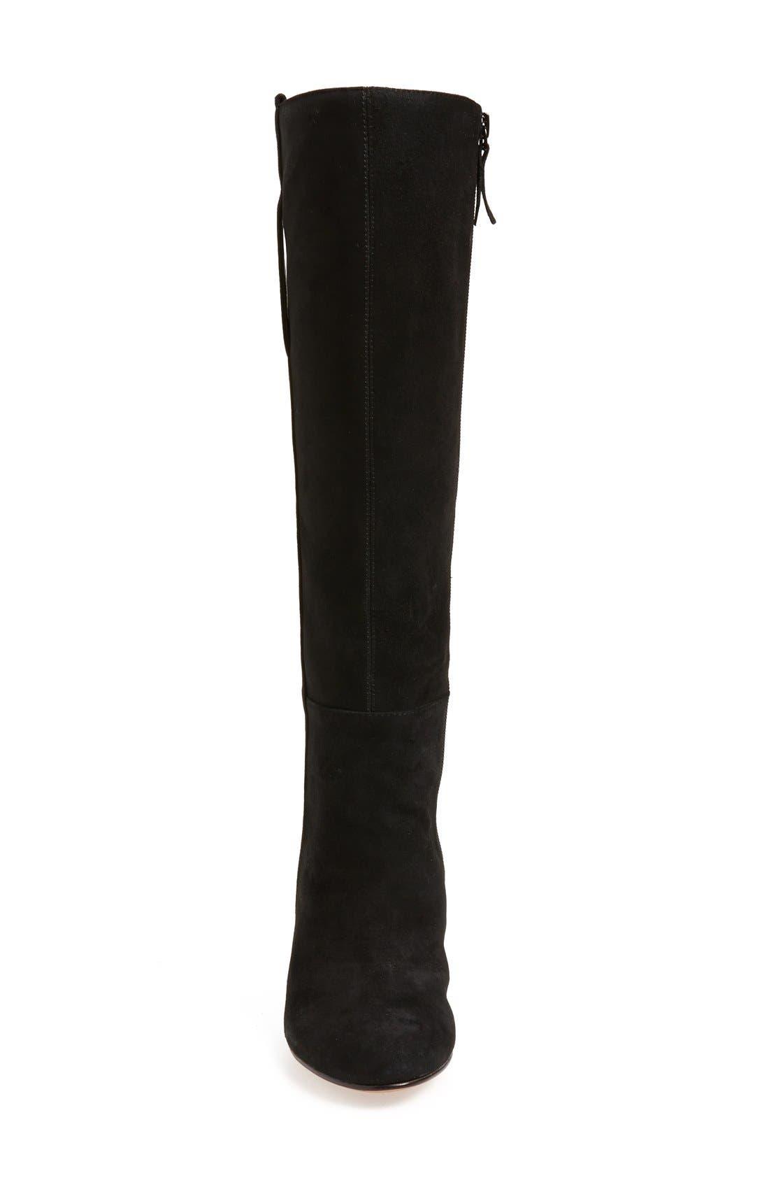 'Oran' Tall Wedge Boot,                             Alternate thumbnail 3, color,                             001