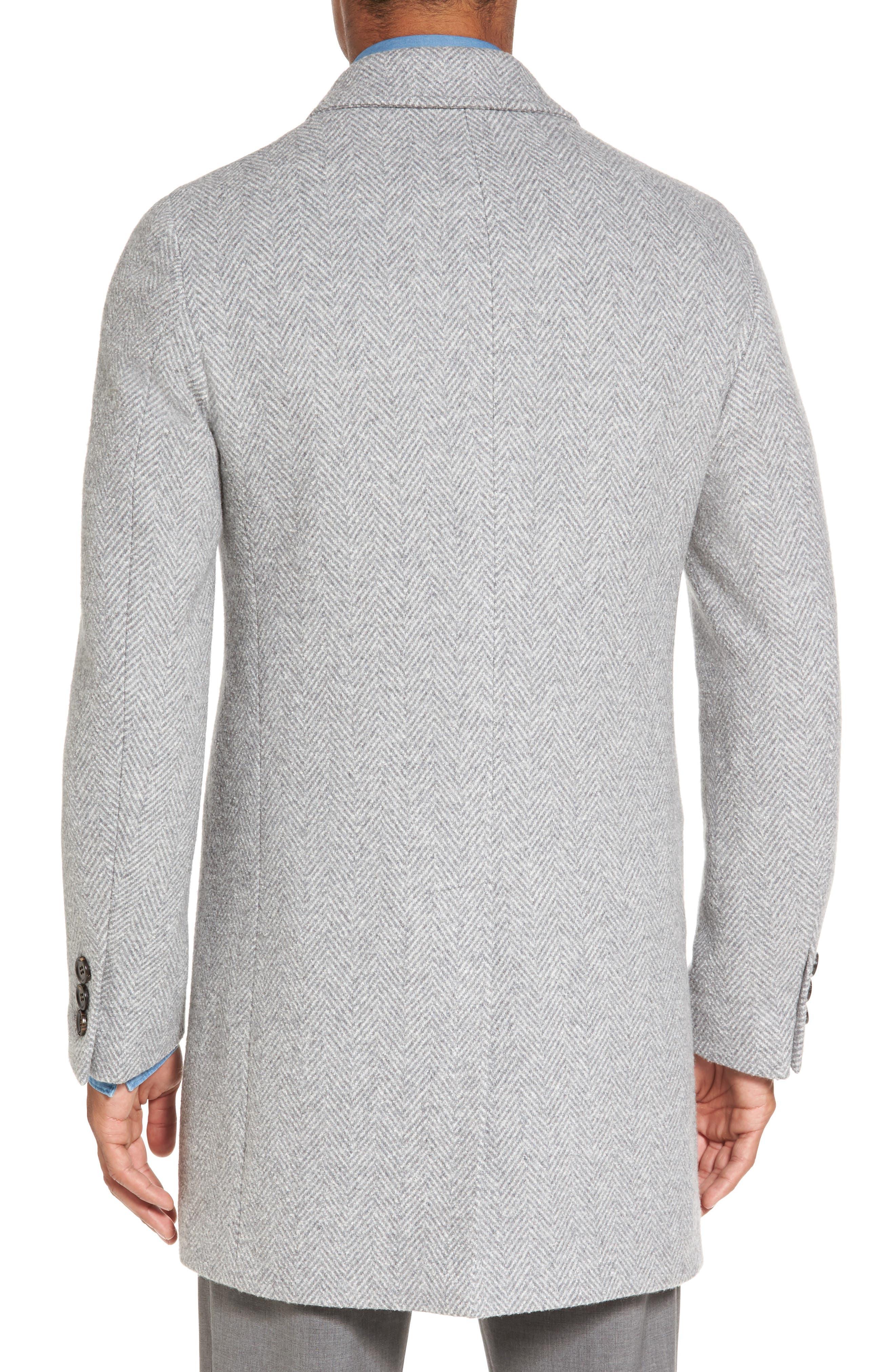Herringbone Wool Blend Overcoat,                             Alternate thumbnail 2, color,