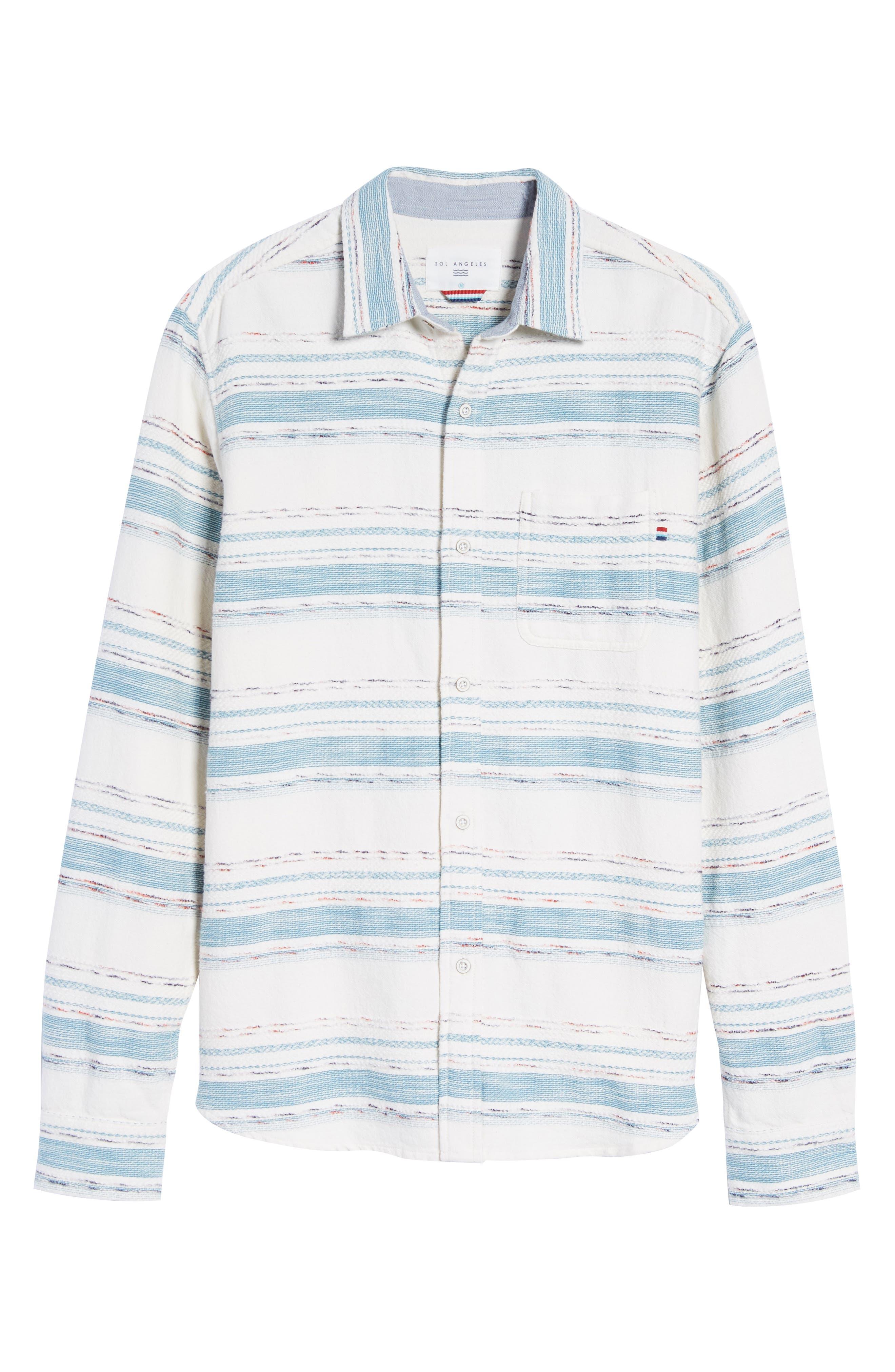 Sedona Stripe Woven Shirt,                             Alternate thumbnail 6, color,                             101