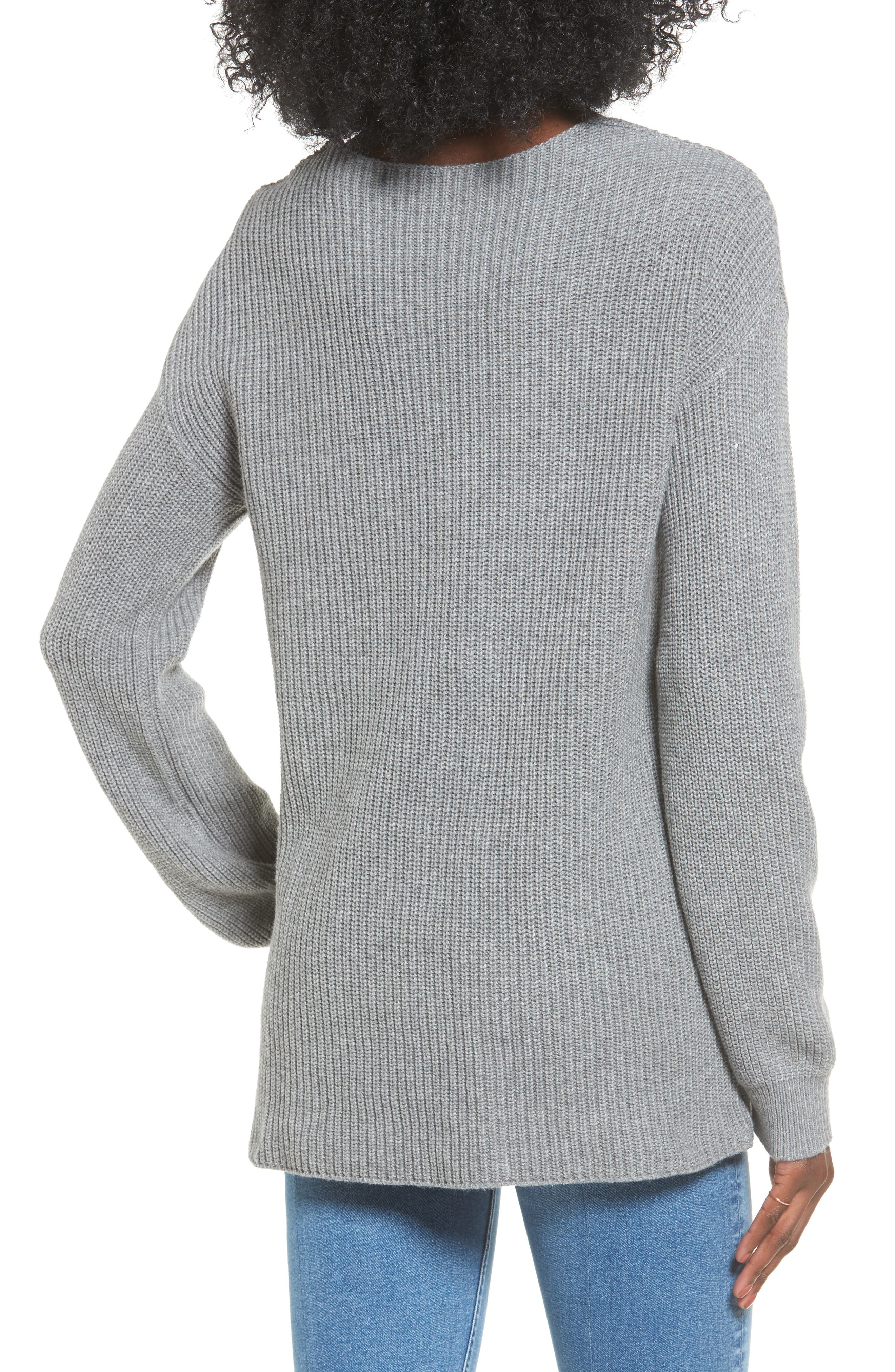 V-Neck Sweater,                             Alternate thumbnail 9, color,