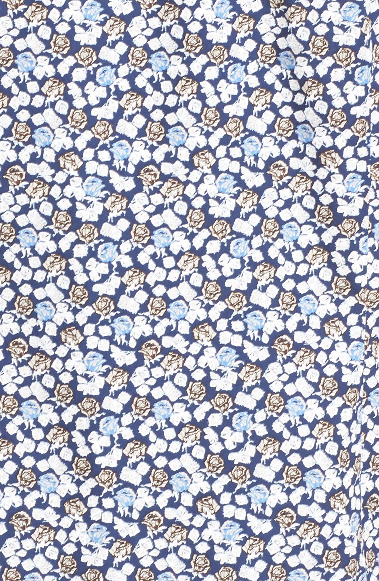 Paul&Shark Regular Fit Floral Sport Shirt,                             Alternate thumbnail 5, color,