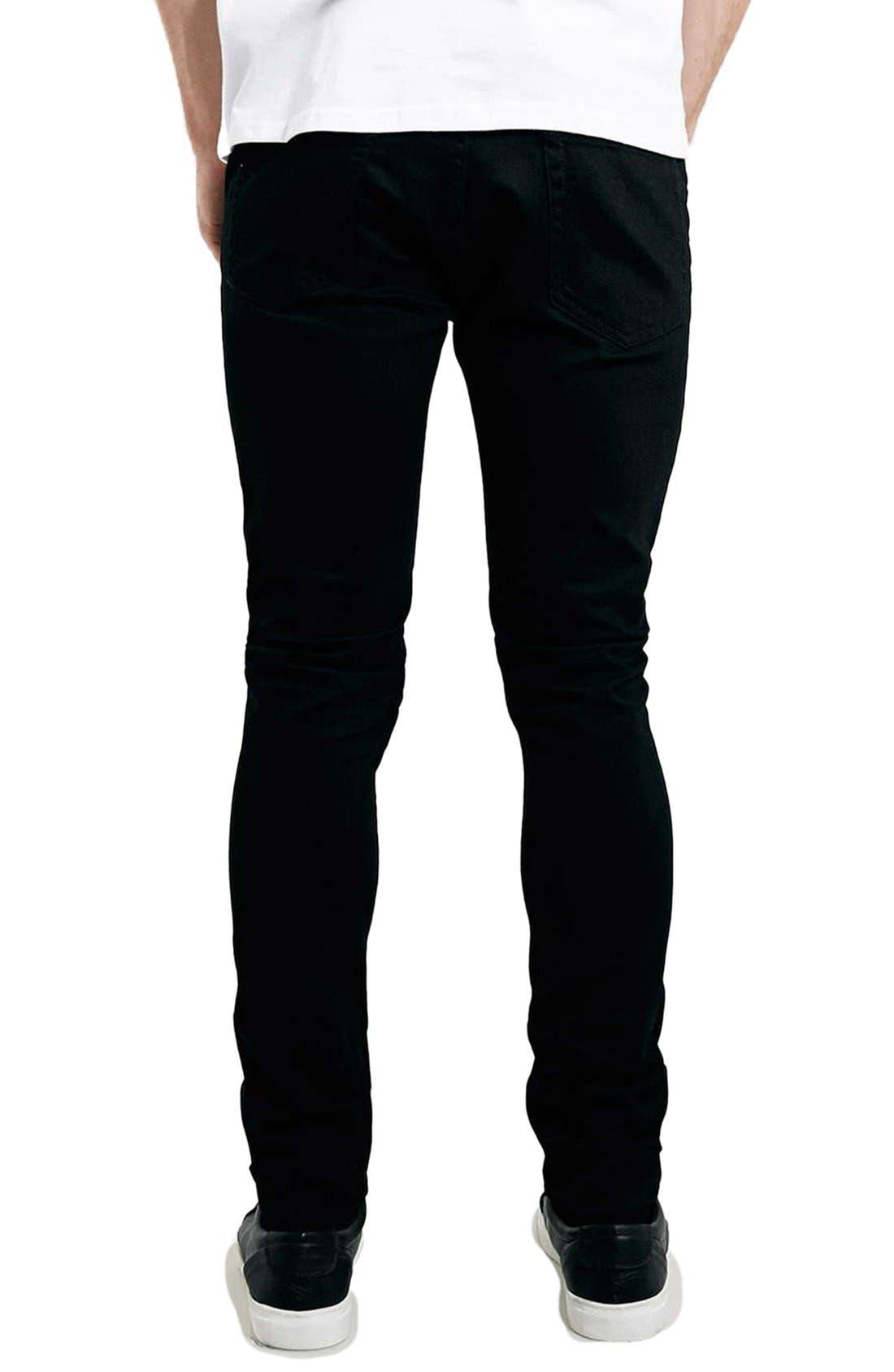 Skinny Stretch Jeans,                             Alternate thumbnail 7, color,                             BLACK