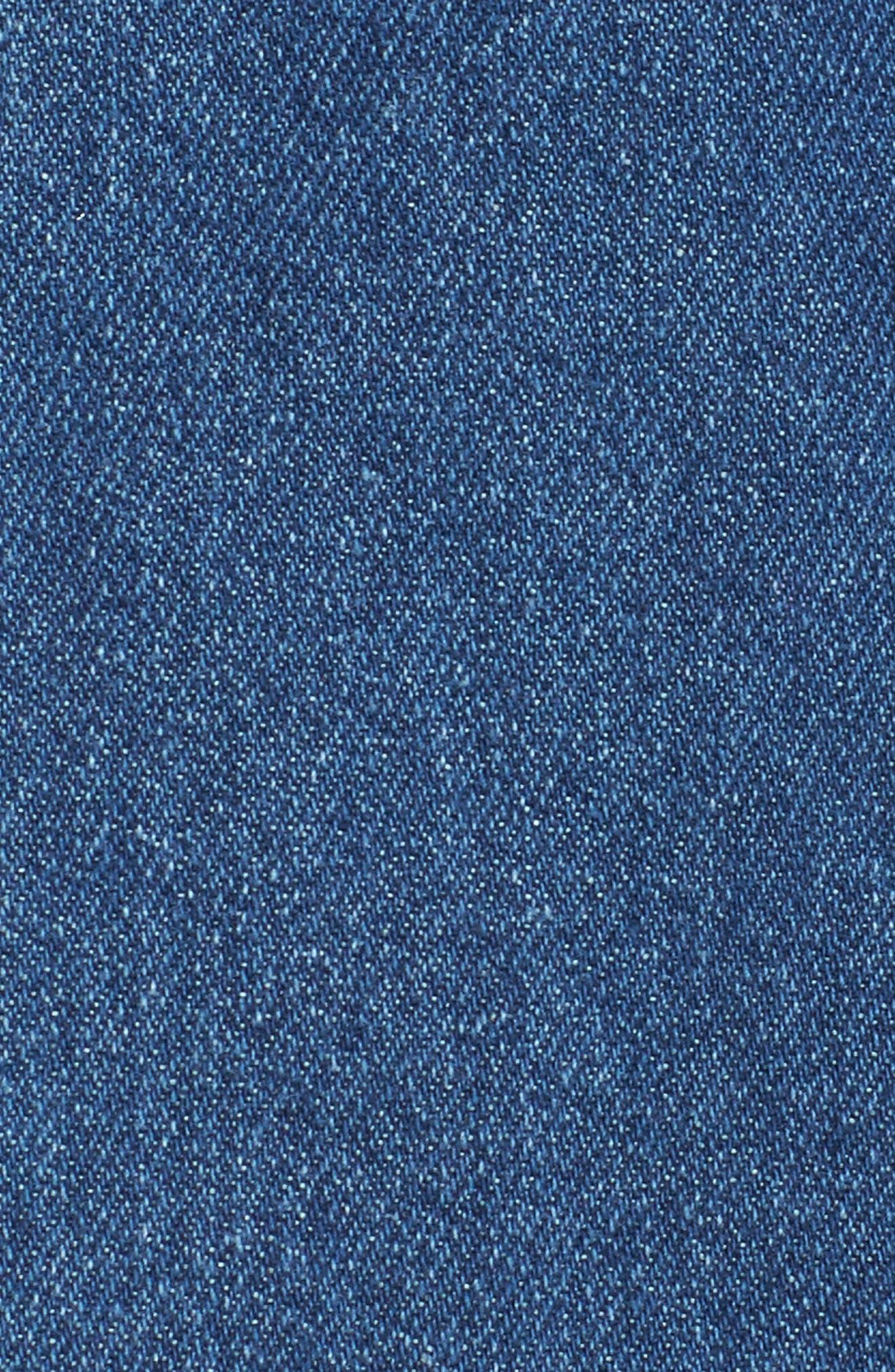 Button Front Denim Dress,                             Alternate thumbnail 5, color,                             401