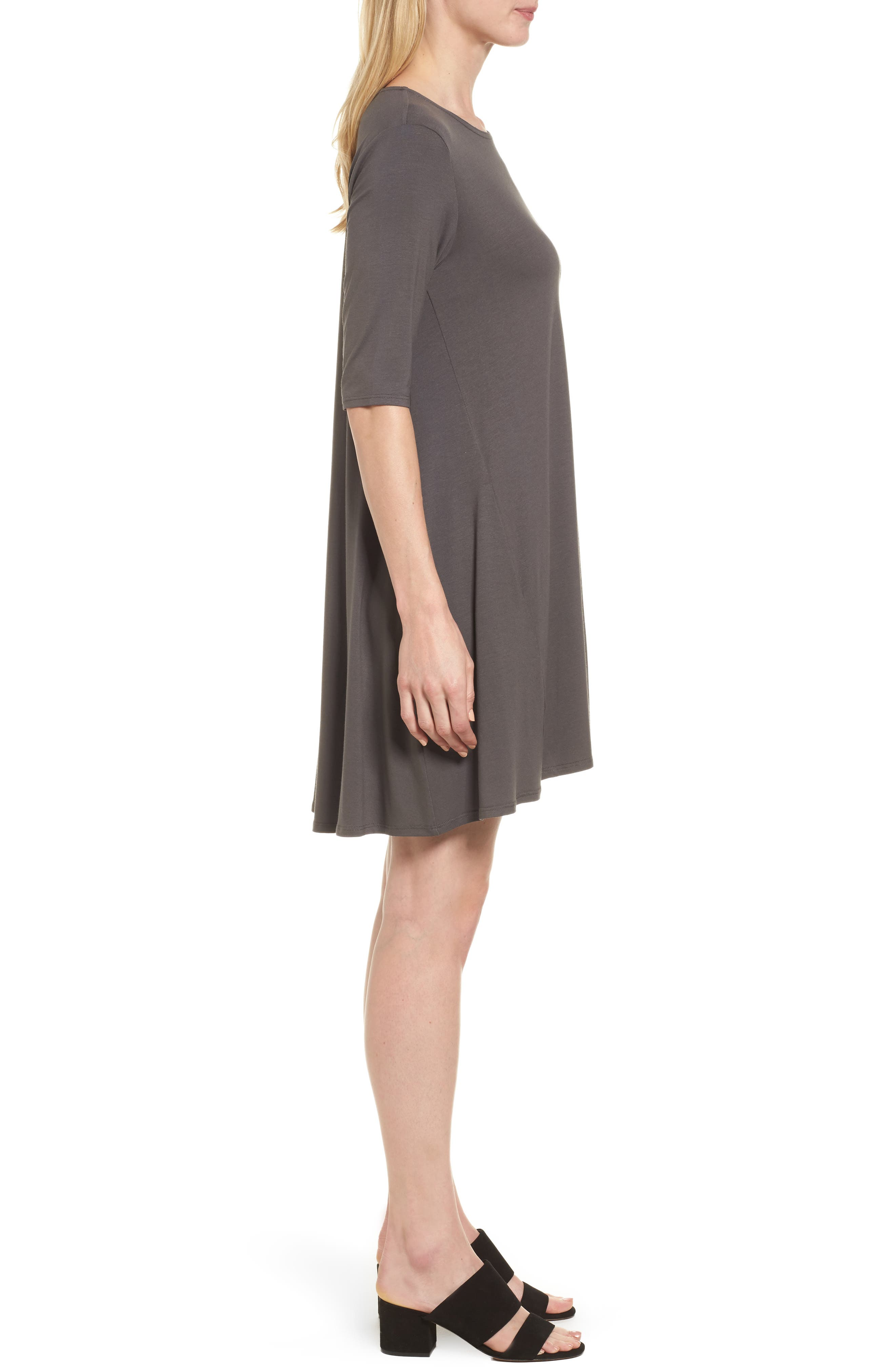 Lightweight Jersey Round Neck Tunic,                             Alternate thumbnail 14, color,
