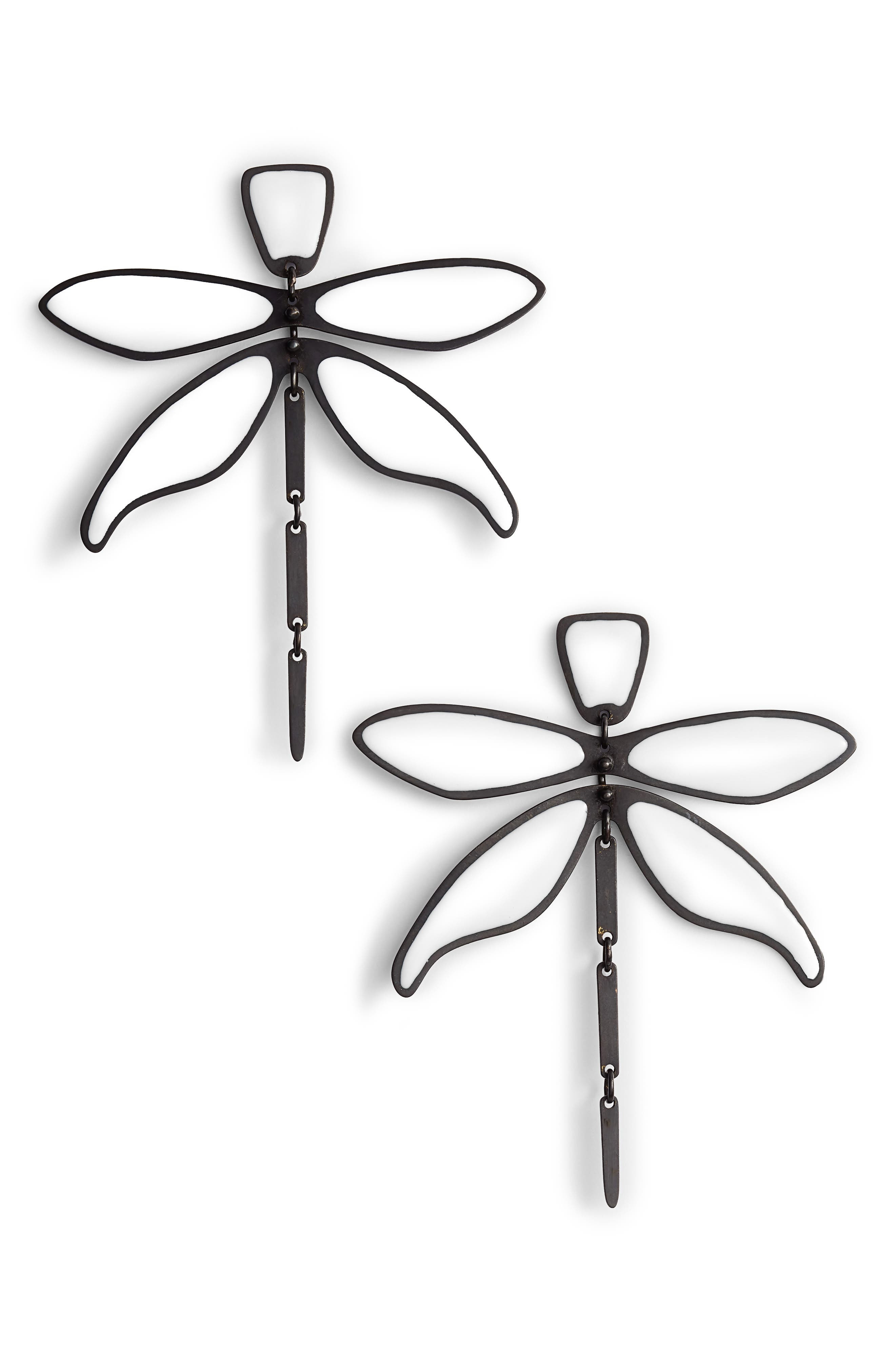 Articulated Dragonfly Earrings,                             Main thumbnail 2, color,