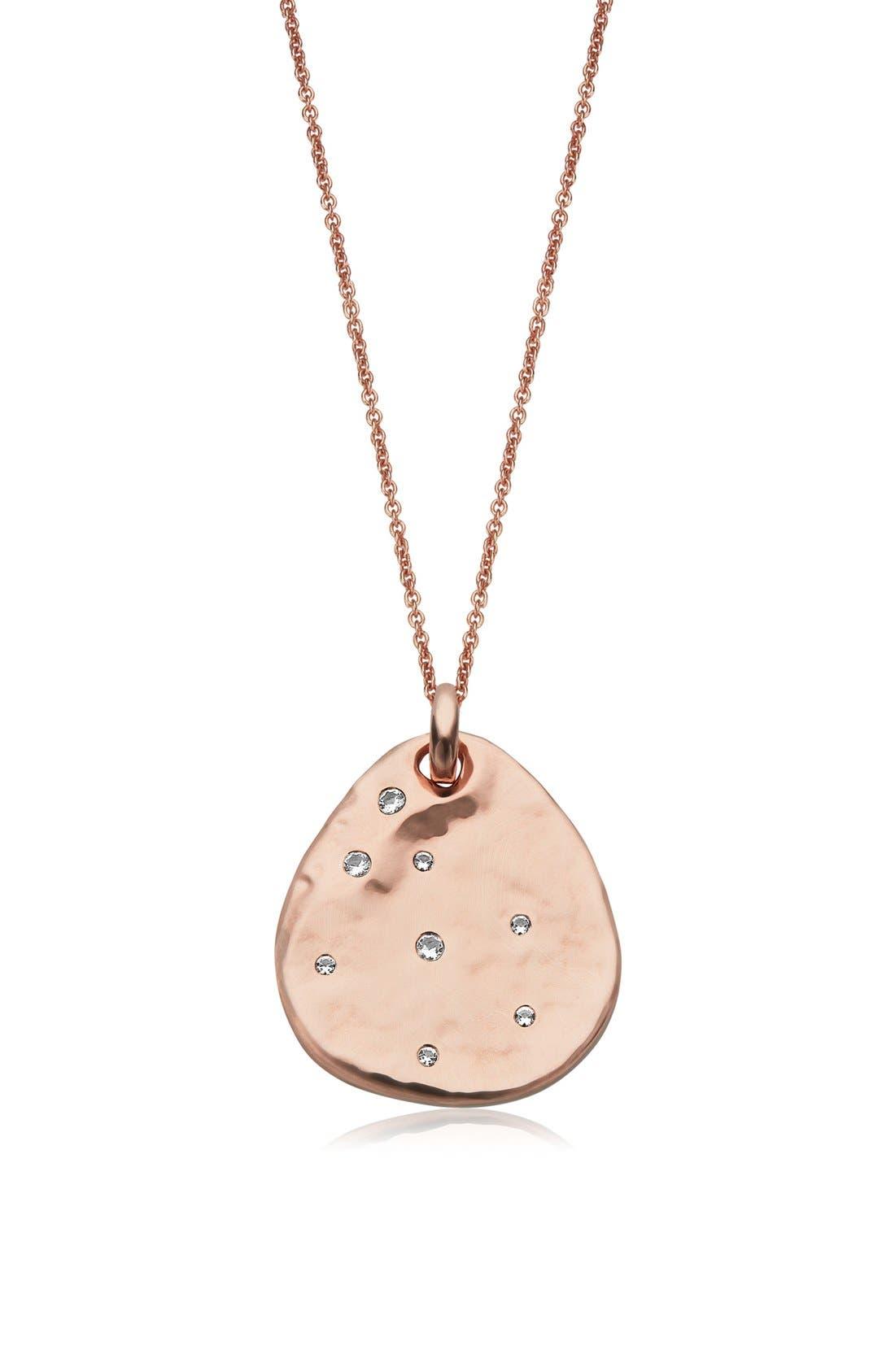 'Siren' Semiprecious Stone Charm Pendant Necklace,                         Main,                         color, 100