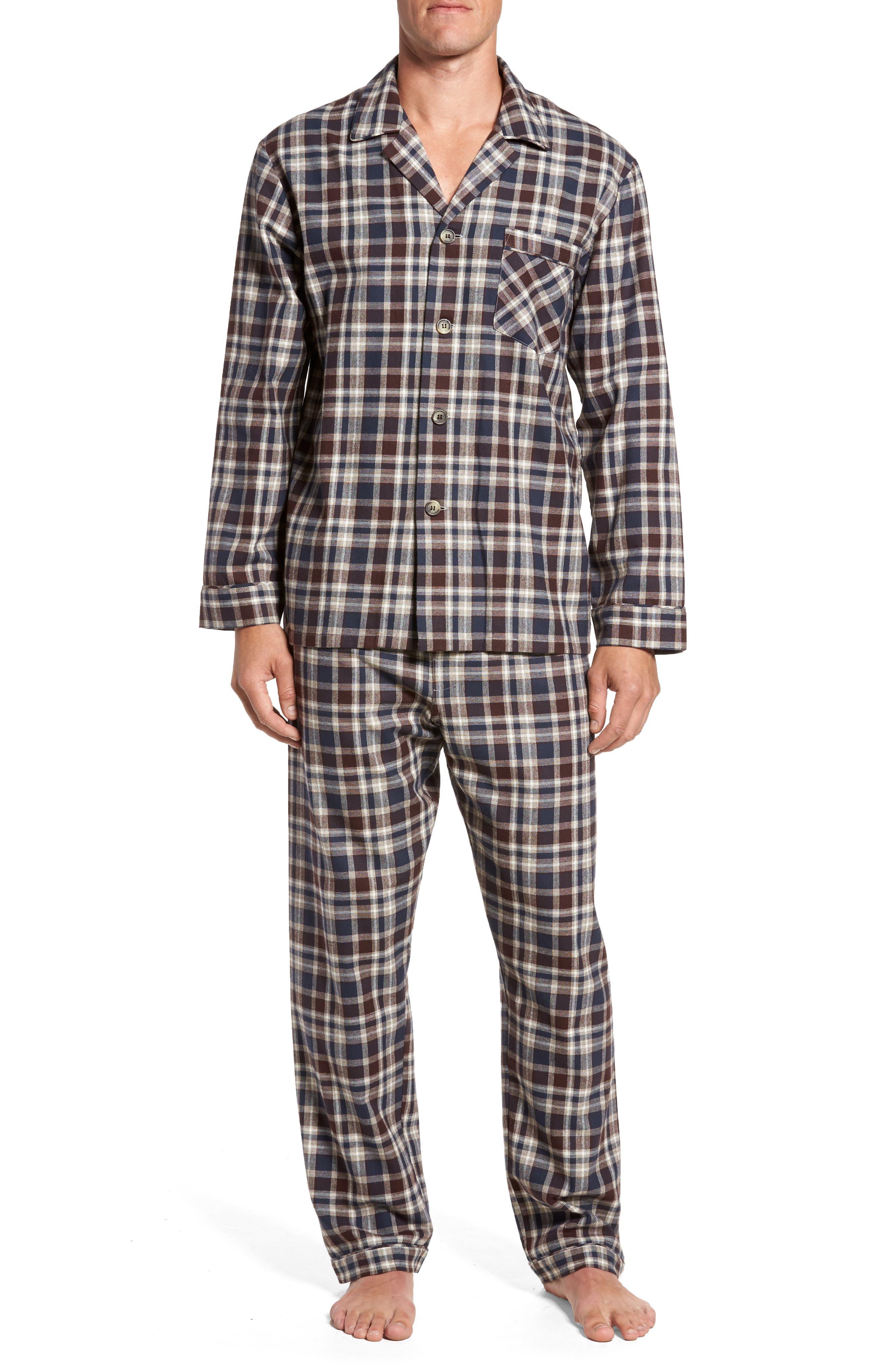 Bryson Plaid Pajama Set,                             Main thumbnail 3, color,