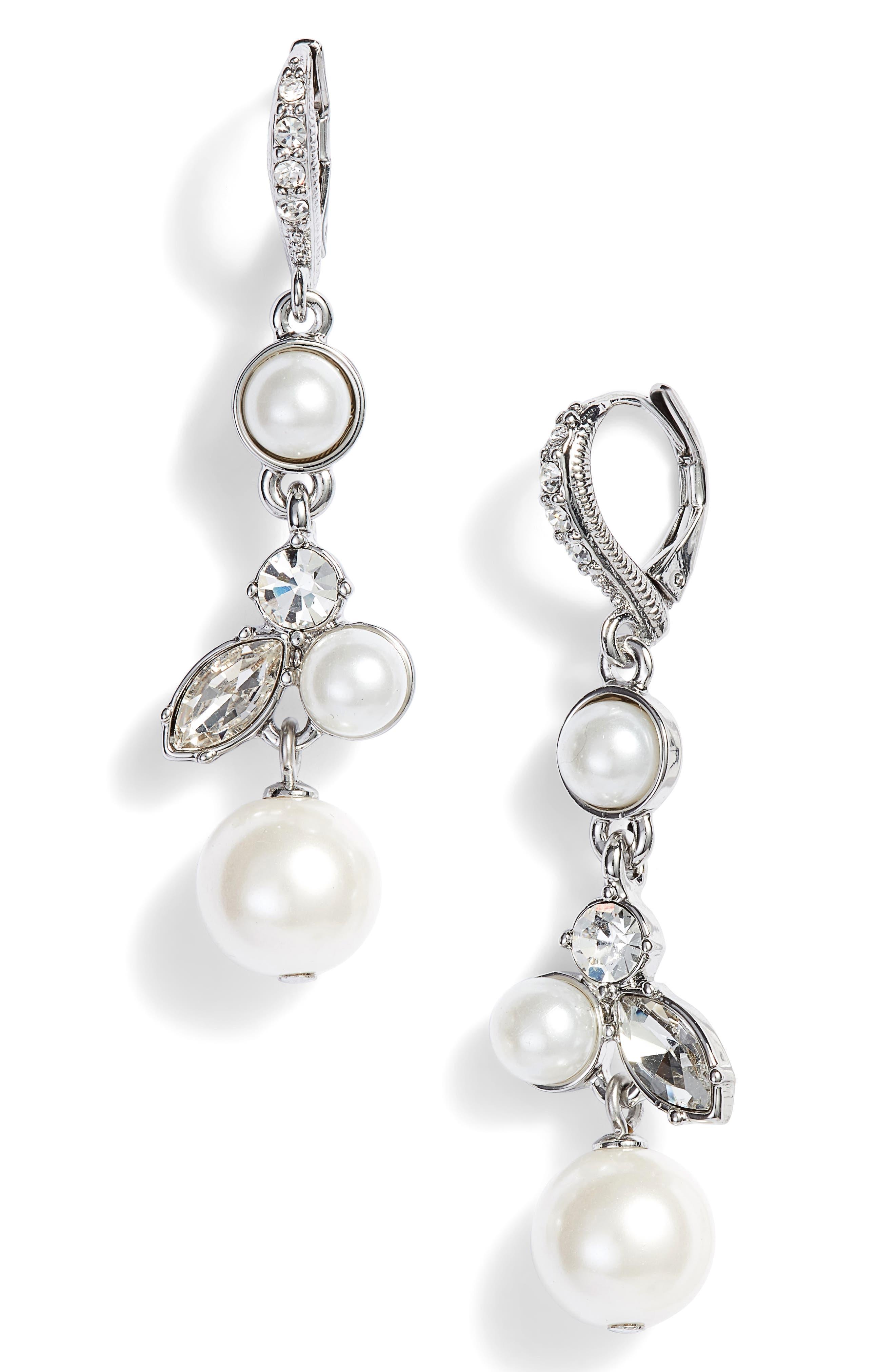 Cluster Drop Earrings,                             Main thumbnail 1, color,                             040