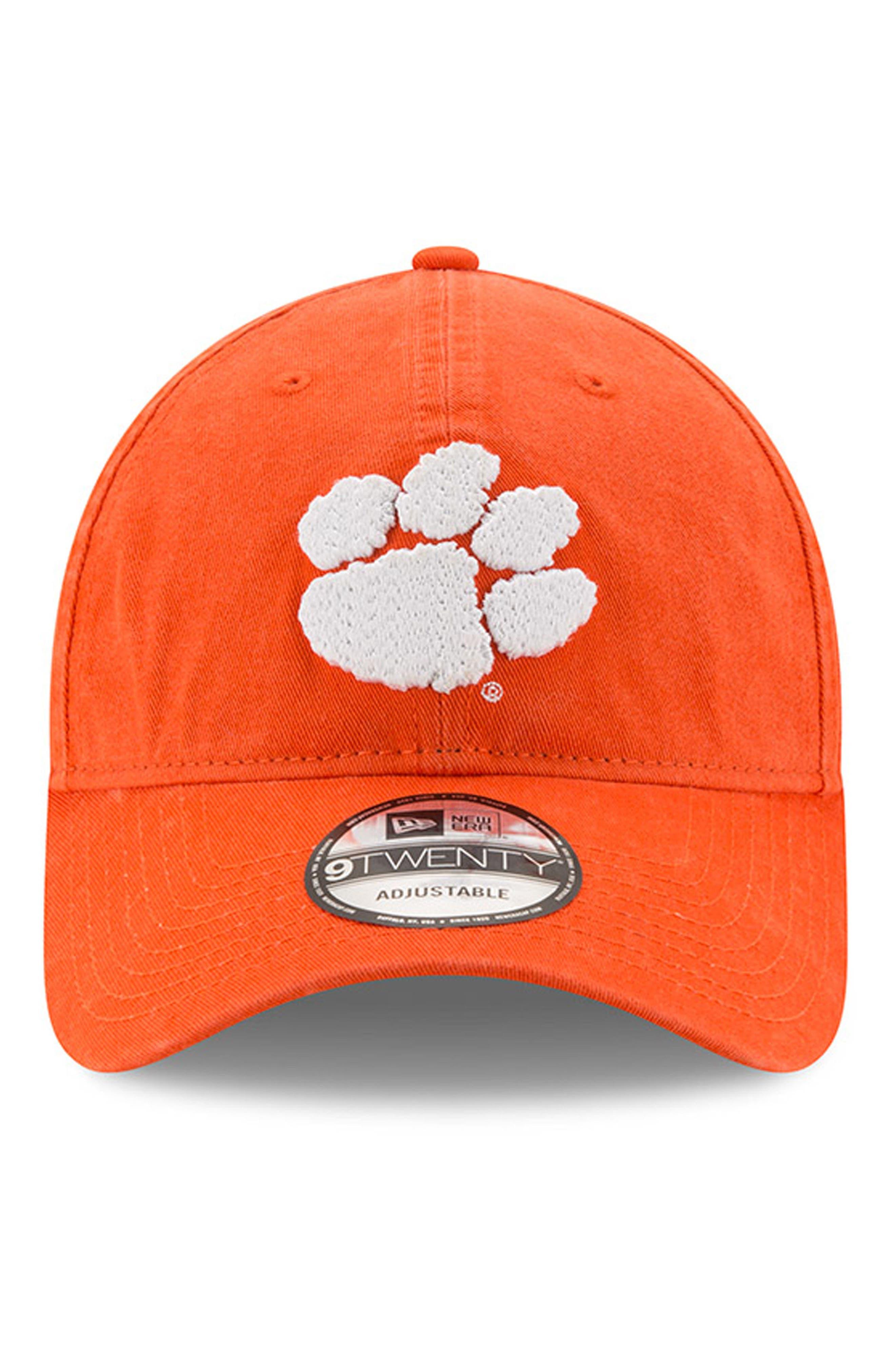 New Era Collegiate Core Classic - Clemson Tigers Baseball Cap,                             Alternate thumbnail 2, color,