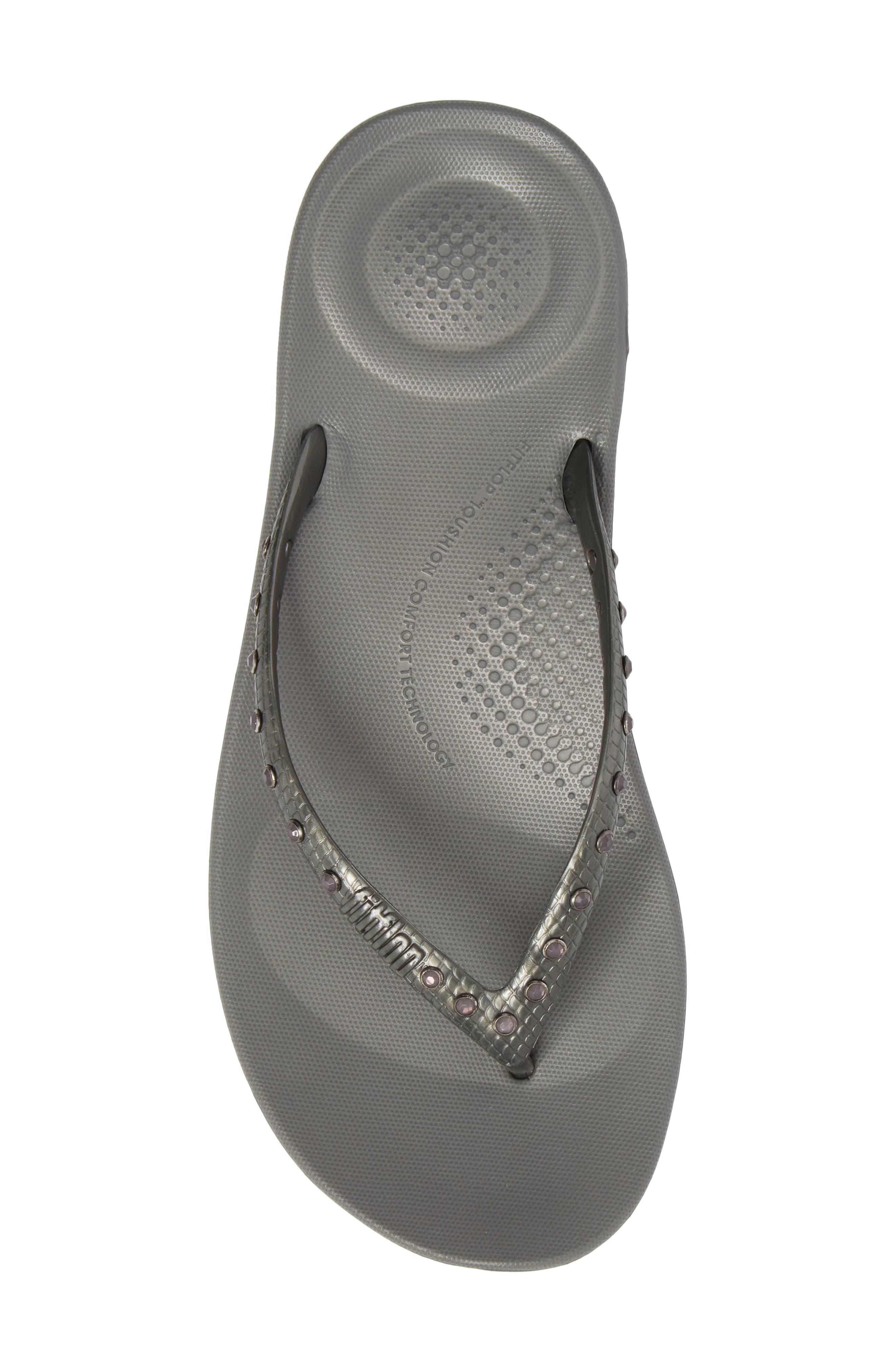 iQushion Flip Flop,                             Alternate thumbnail 5, color,                             CHARCOAL GREY