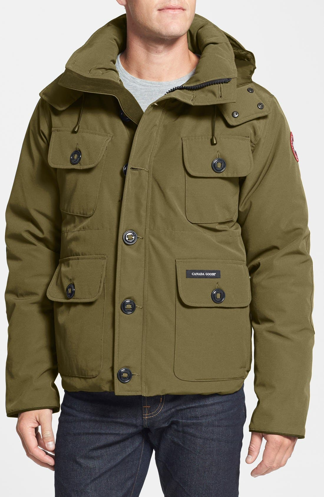 'Selkirk' Slim Fit Water Resistant Down Parka with Detachable Hood,                             Main thumbnail 3, color,