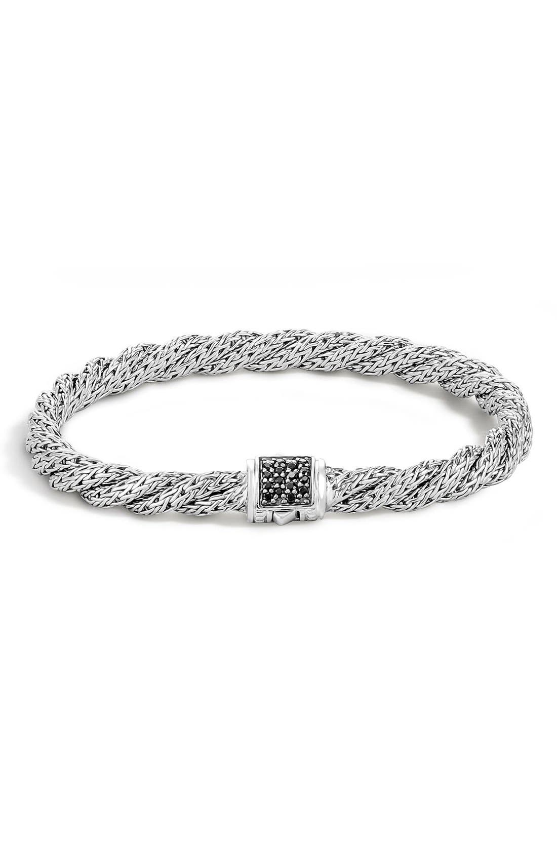 'Classic Cable' Twisted Chain Bracelet,                             Main thumbnail 1, color,