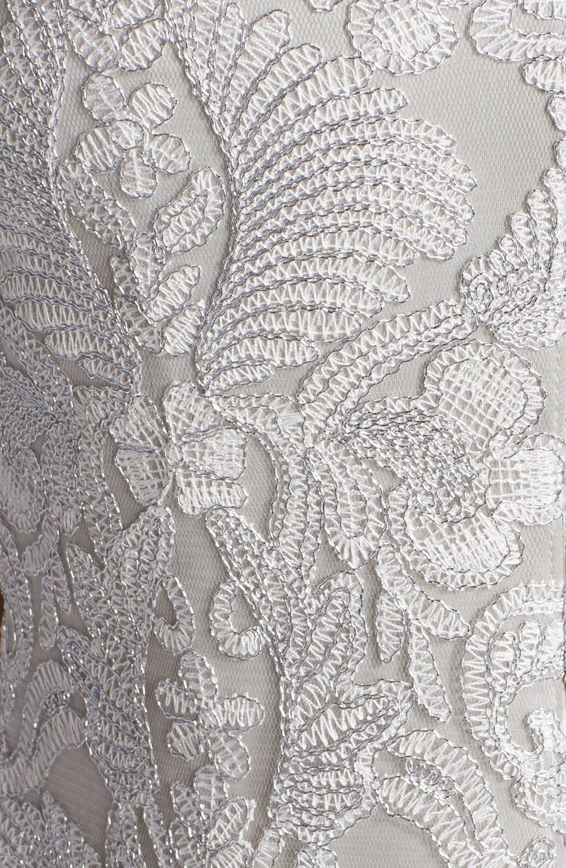 Illusion Yoke Lace Sheath Dress,                             Alternate thumbnail 26, color,