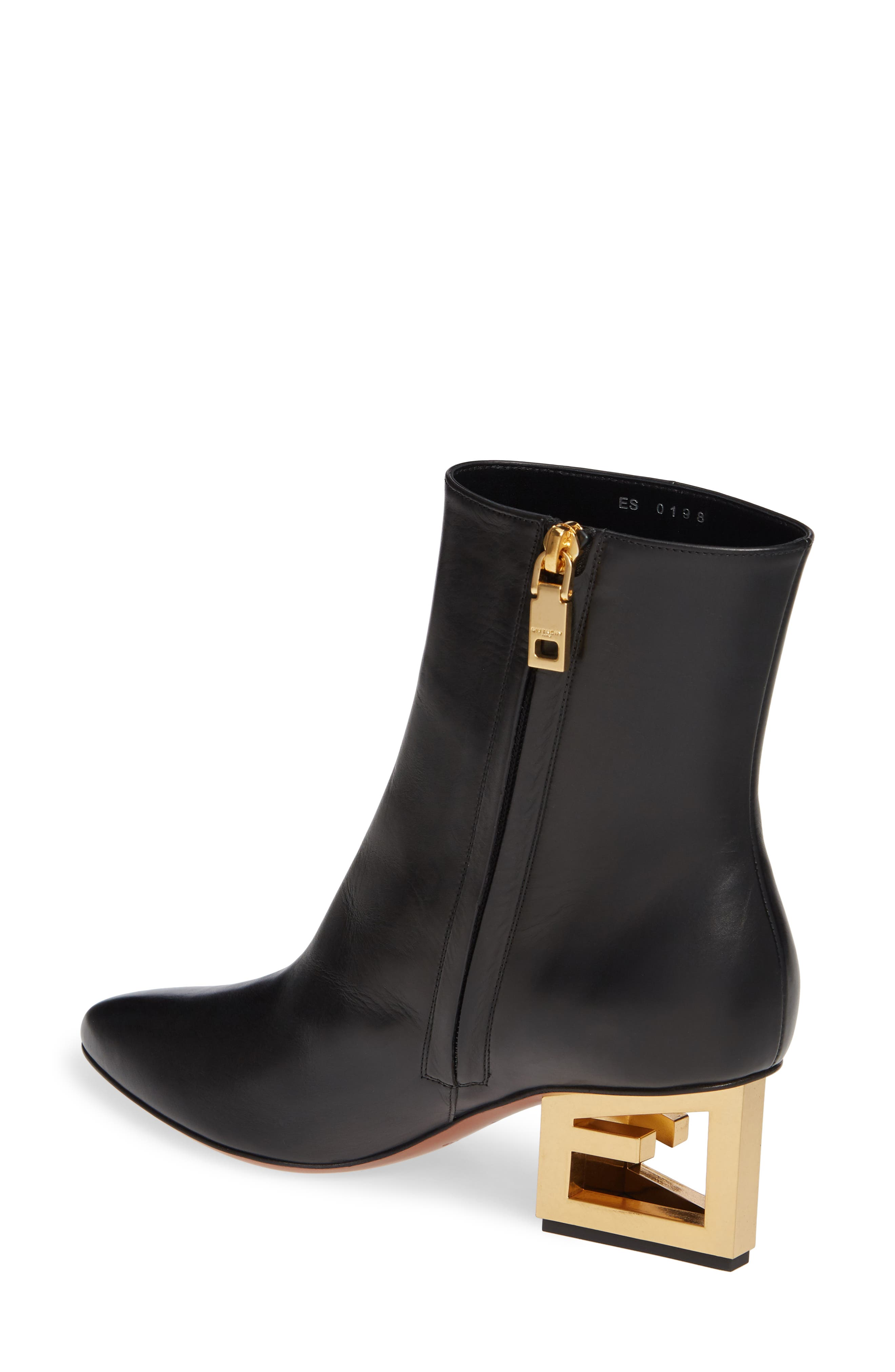 GIVENCHY,                             Triangle Heel Ankle Boot,                             Alternate thumbnail 2, color,                             BLACK