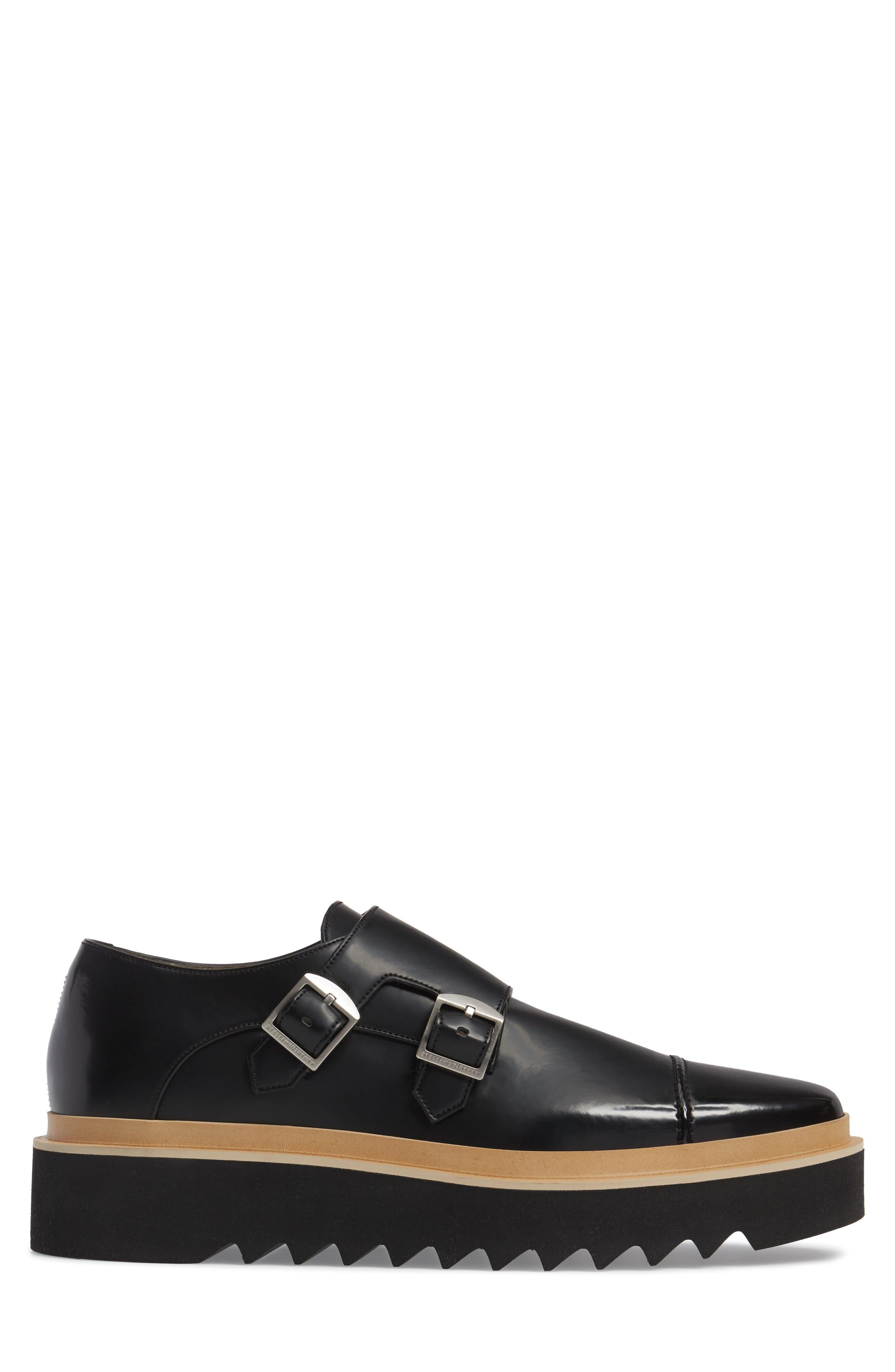 Peter Platform Monk Shoe,                             Alternate thumbnail 3, color,                             001