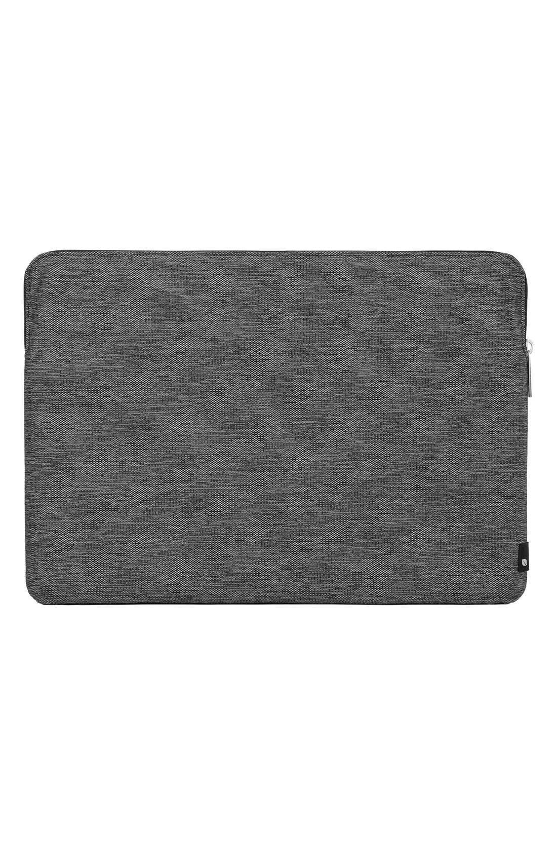MacBook Air Sleeve,                             Alternate thumbnail 2, color,                             HEATHER  BLACK