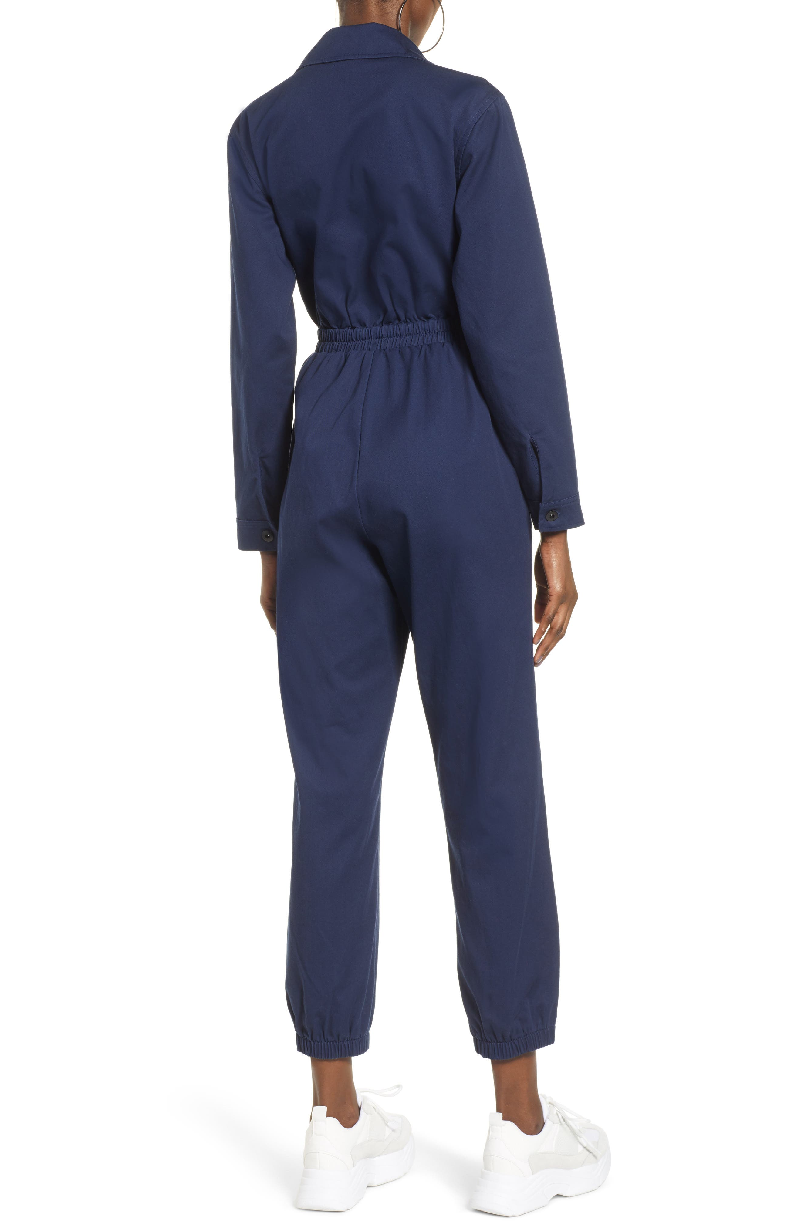 TEN SIXTY SHERMAN,                             Twill Workwear Jumpsuit,                             Alternate thumbnail 2, color,                             OXFORD BLUE