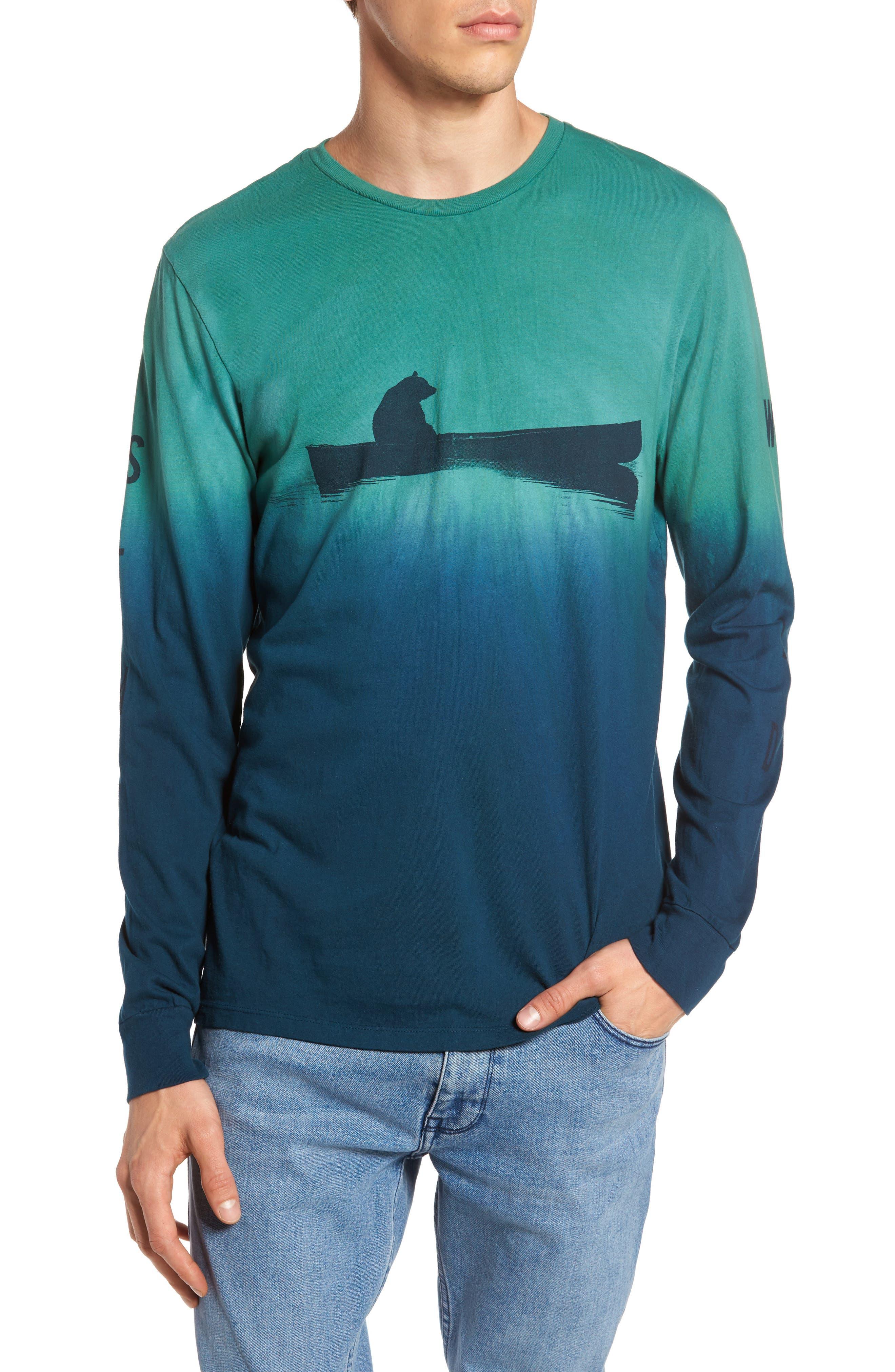 Up a Creek T-Shirt,                             Main thumbnail 1, color,                             ALGAE/ NAVY