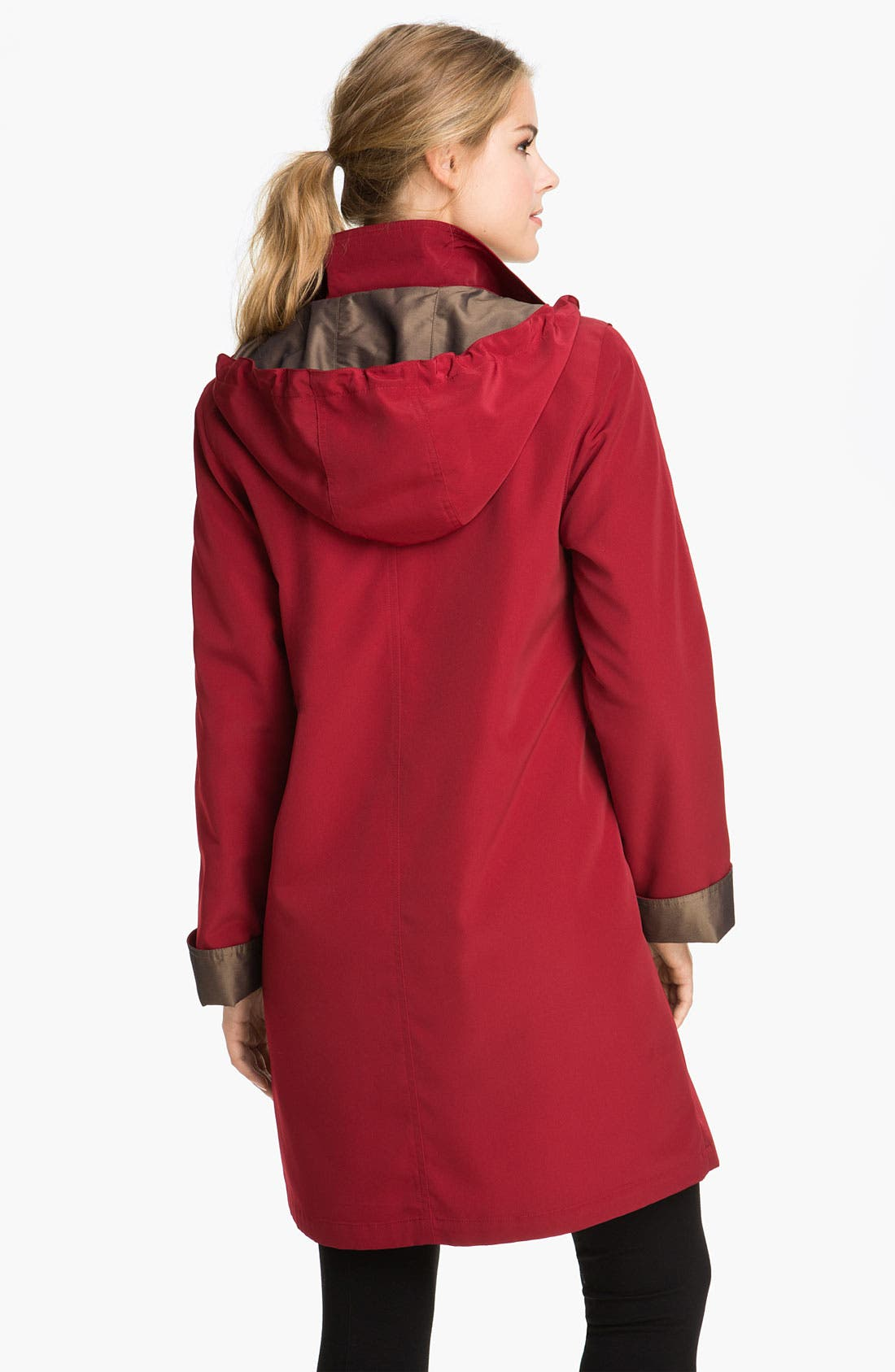 A-Line Raincoat with Detachable Hood & Liner,                             Alternate thumbnail 10, color,