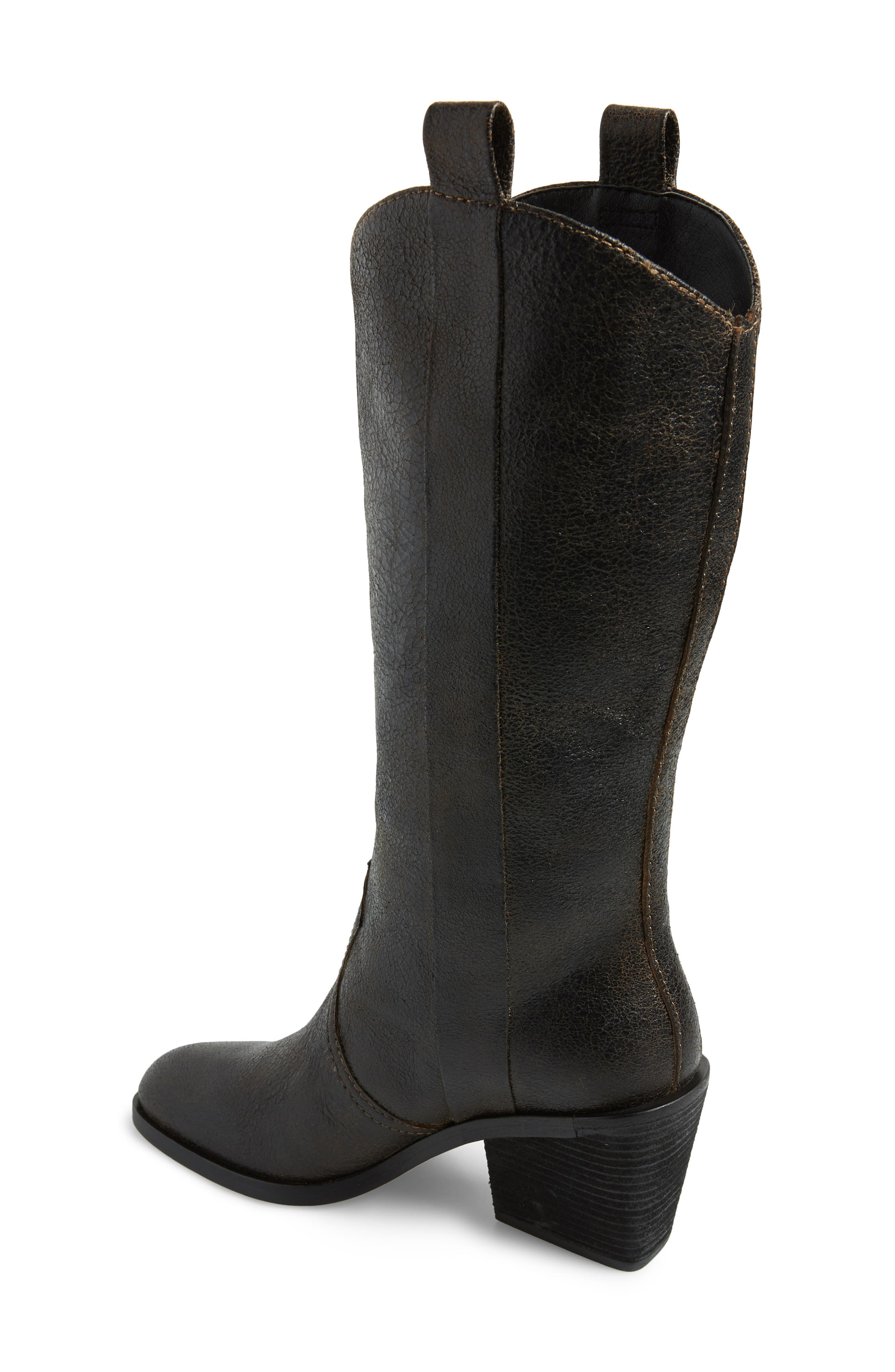 Riot Western Boot,                             Alternate thumbnail 2, color,                             BLACK VINTAGE LEATHER