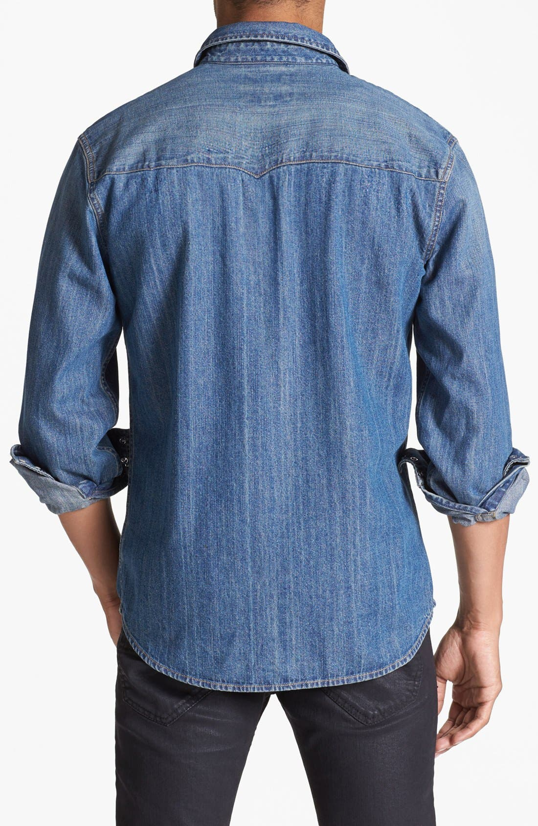 LEVI'S<SUP>®</SUP>,                             'Barstow' Western Denim Shirt,                             Alternate thumbnail 2, color,                             462