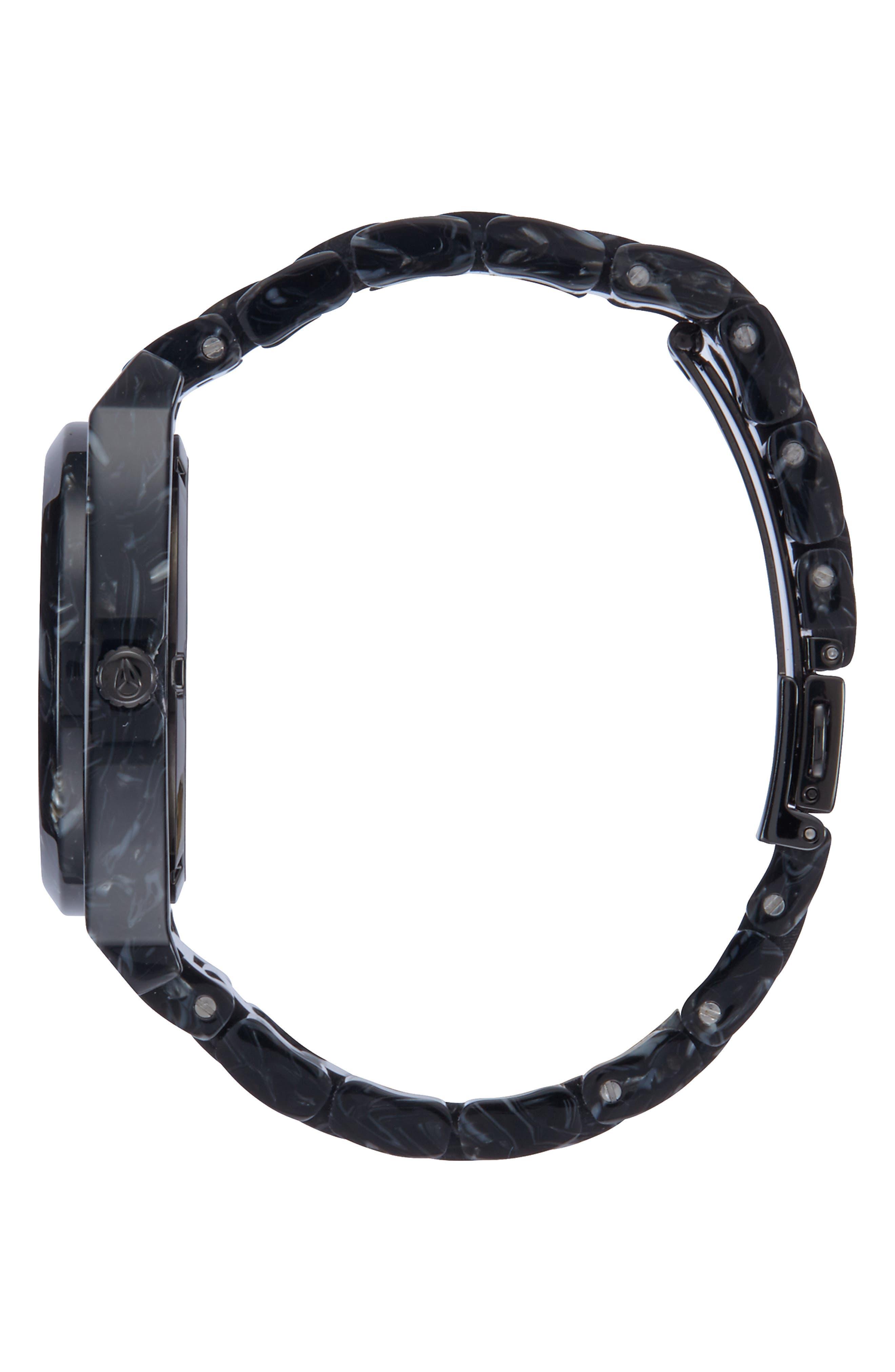 Time Teller Acetate Bracelet Watch, 40mm,                             Alternate thumbnail 3, color,                             020
