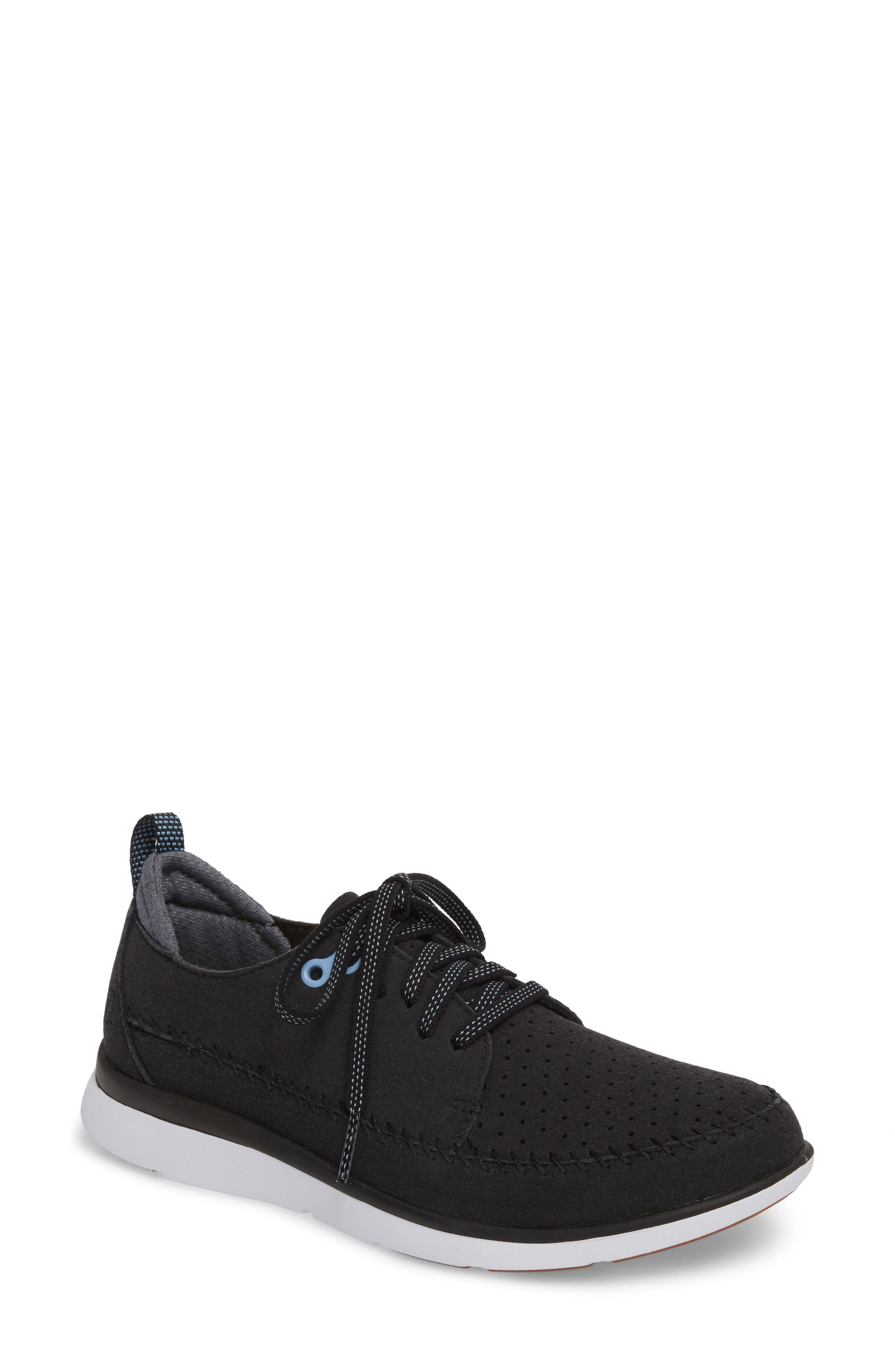 Addy Sneaker,                             Main thumbnail 1, color,                             BLACK FABRIC