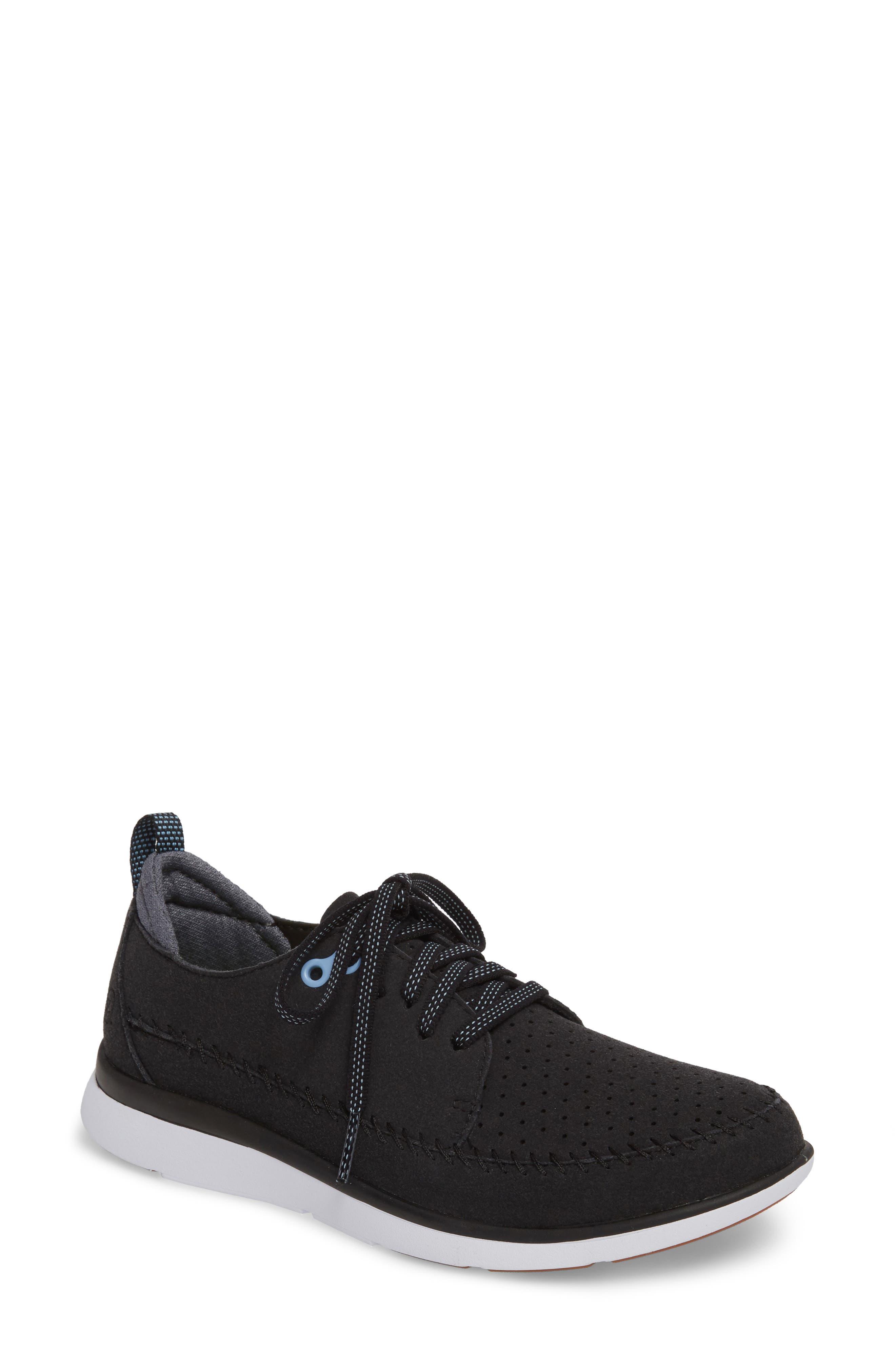 Addy Sneaker,                         Main,                         color, BLACK FABRIC