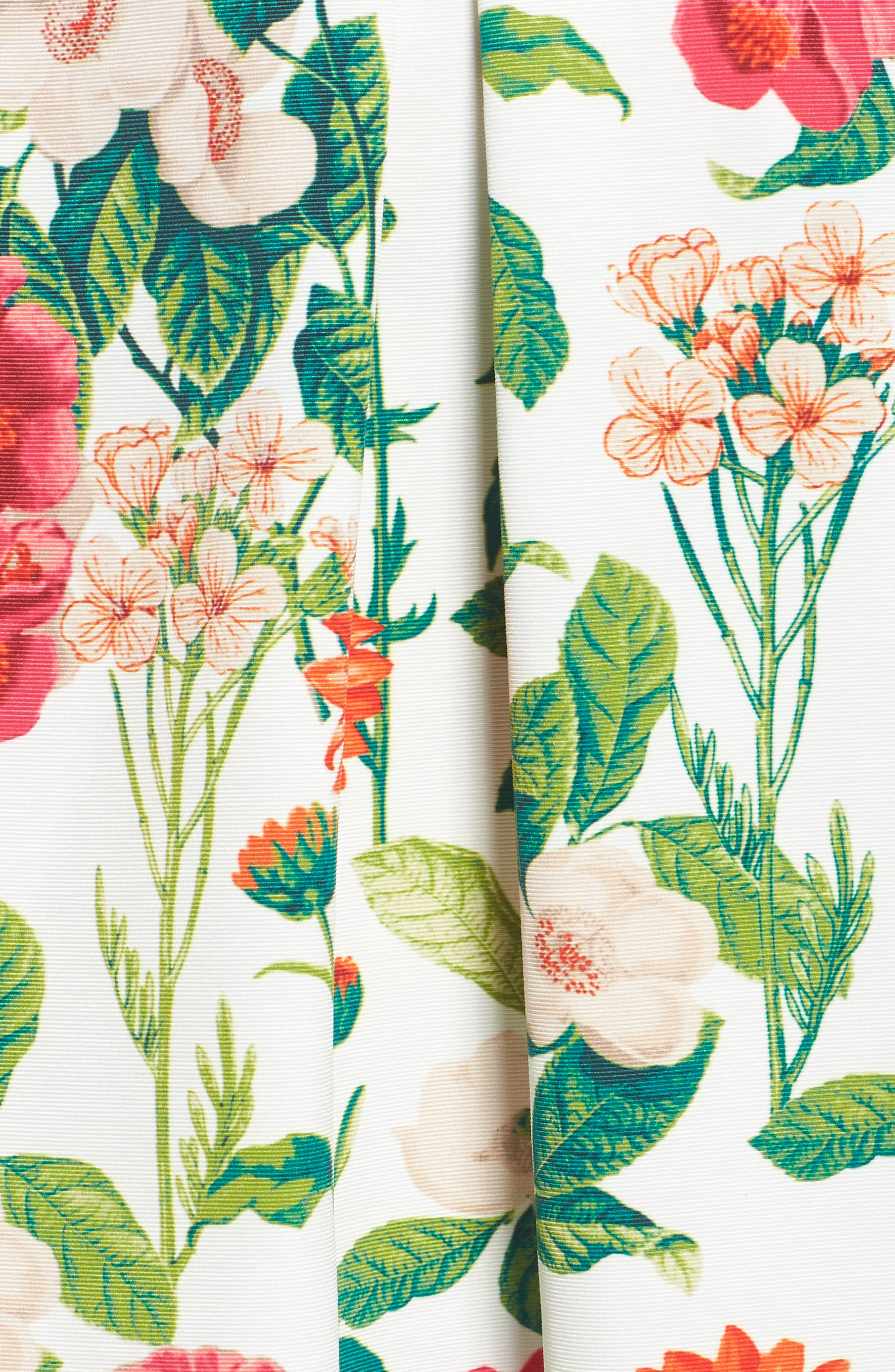 Floral A-Line Skirt,                             Alternate thumbnail 5, color,                             901