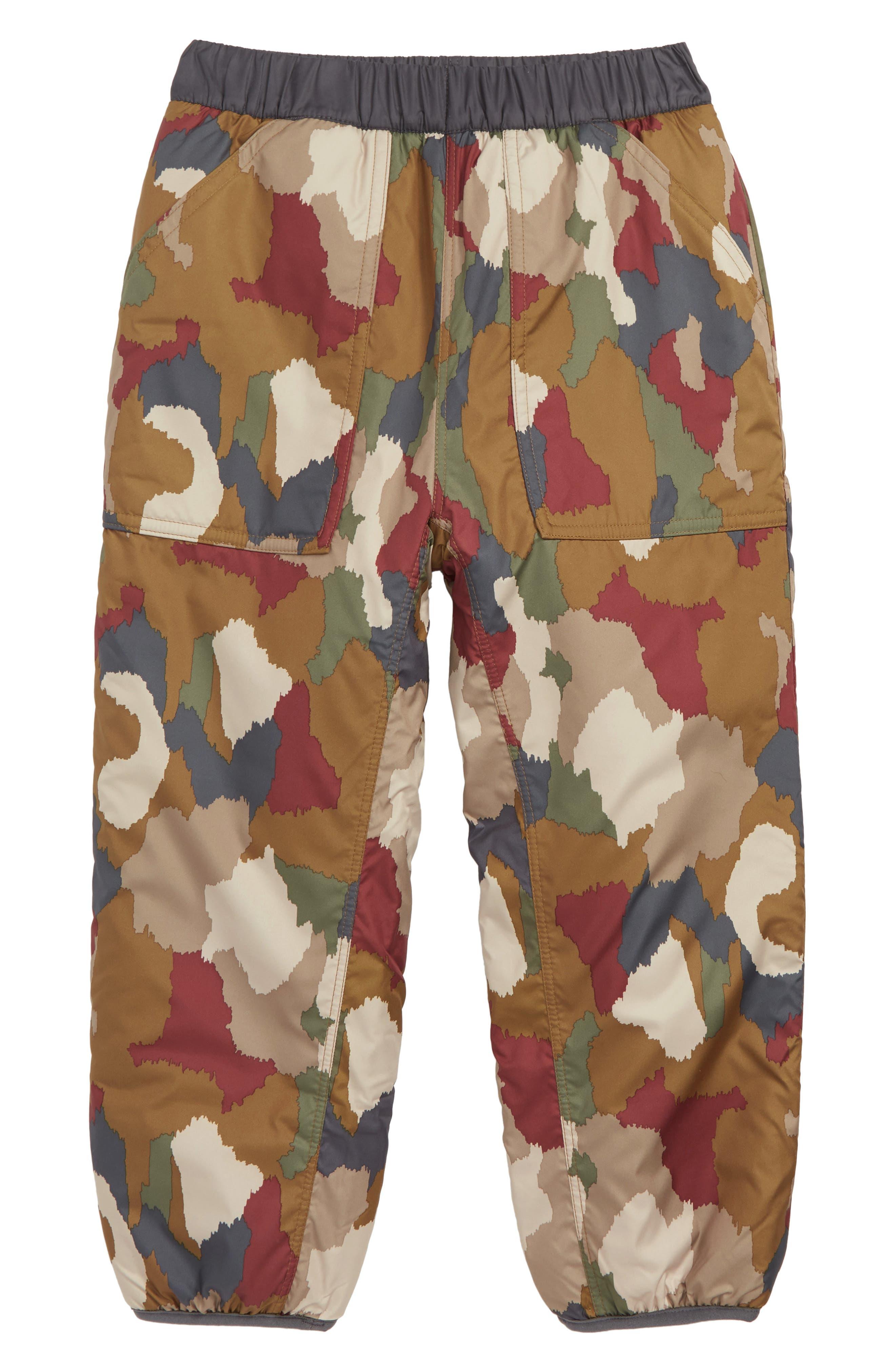 Tribbles Reversible Water Repellent Snow Pants,                         Main,                         color, BCEL BUNKER CAMO: EL CAP KHAKI