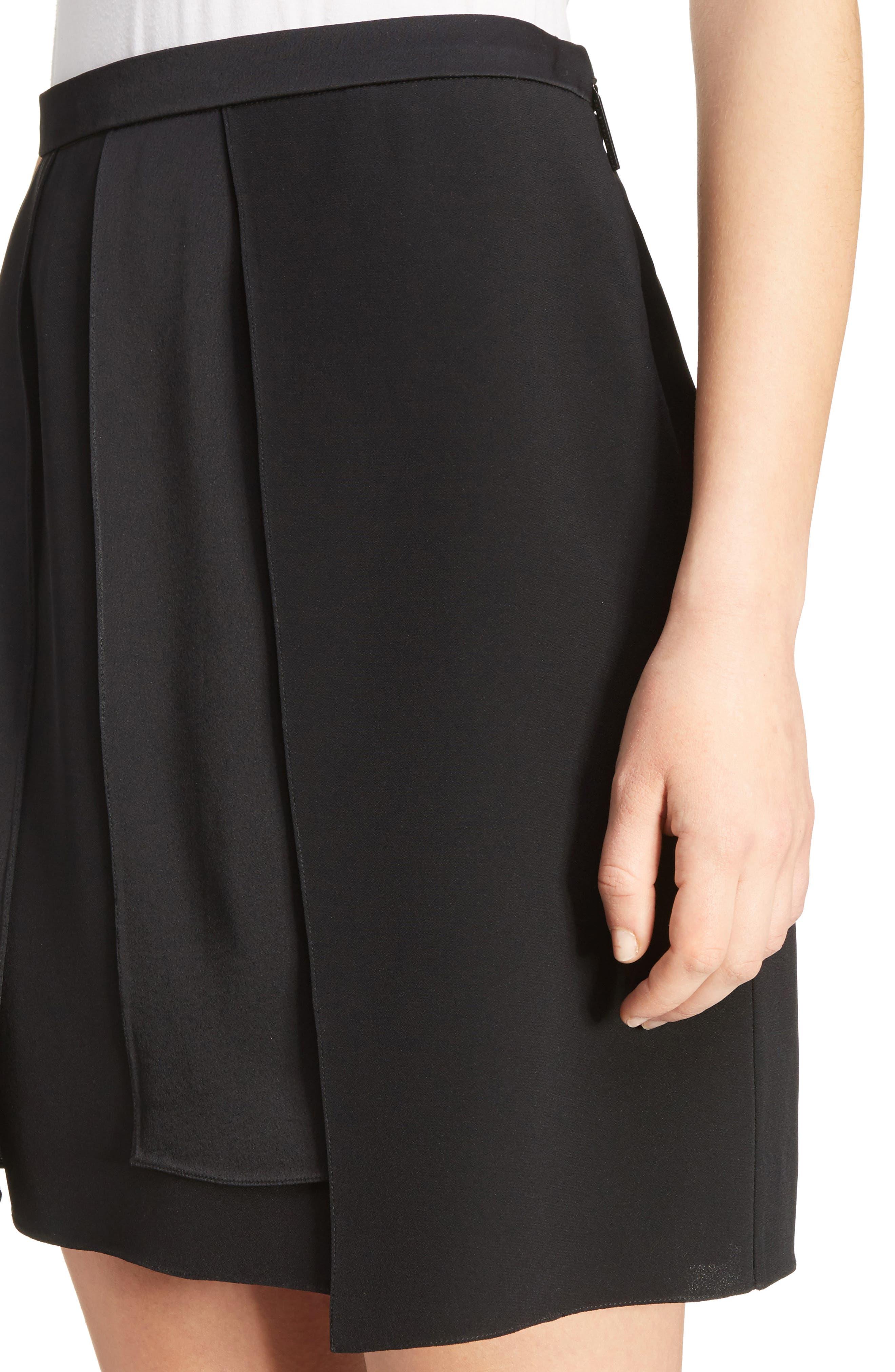Layered Miniskirt,                             Alternate thumbnail 4, color,                             001