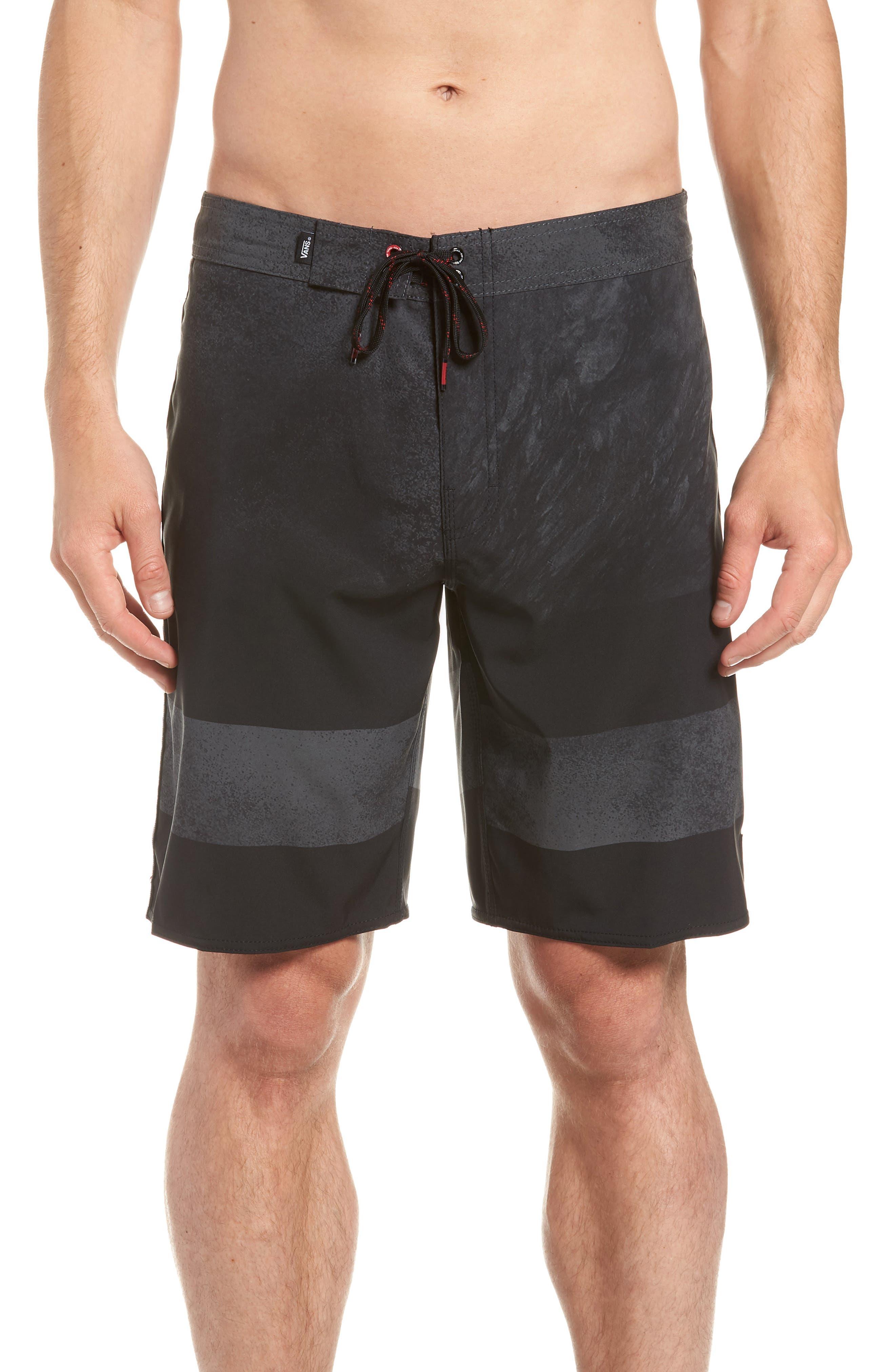 Era Board Shorts,                         Main,                         color, BLACK/ NATHAN FLORENCE