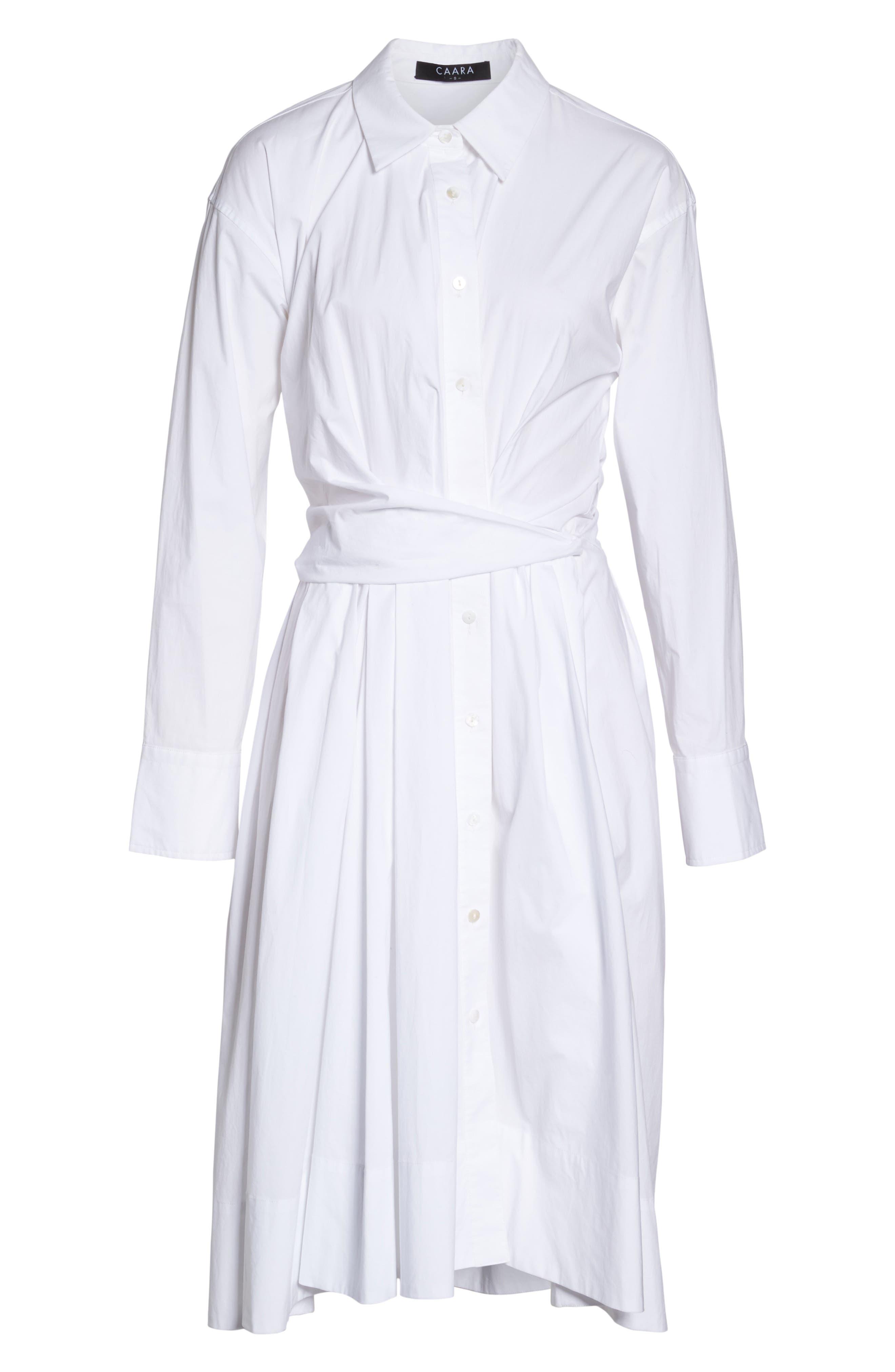 Tiffany Cotton Shirtdress,                             Alternate thumbnail 6, color,