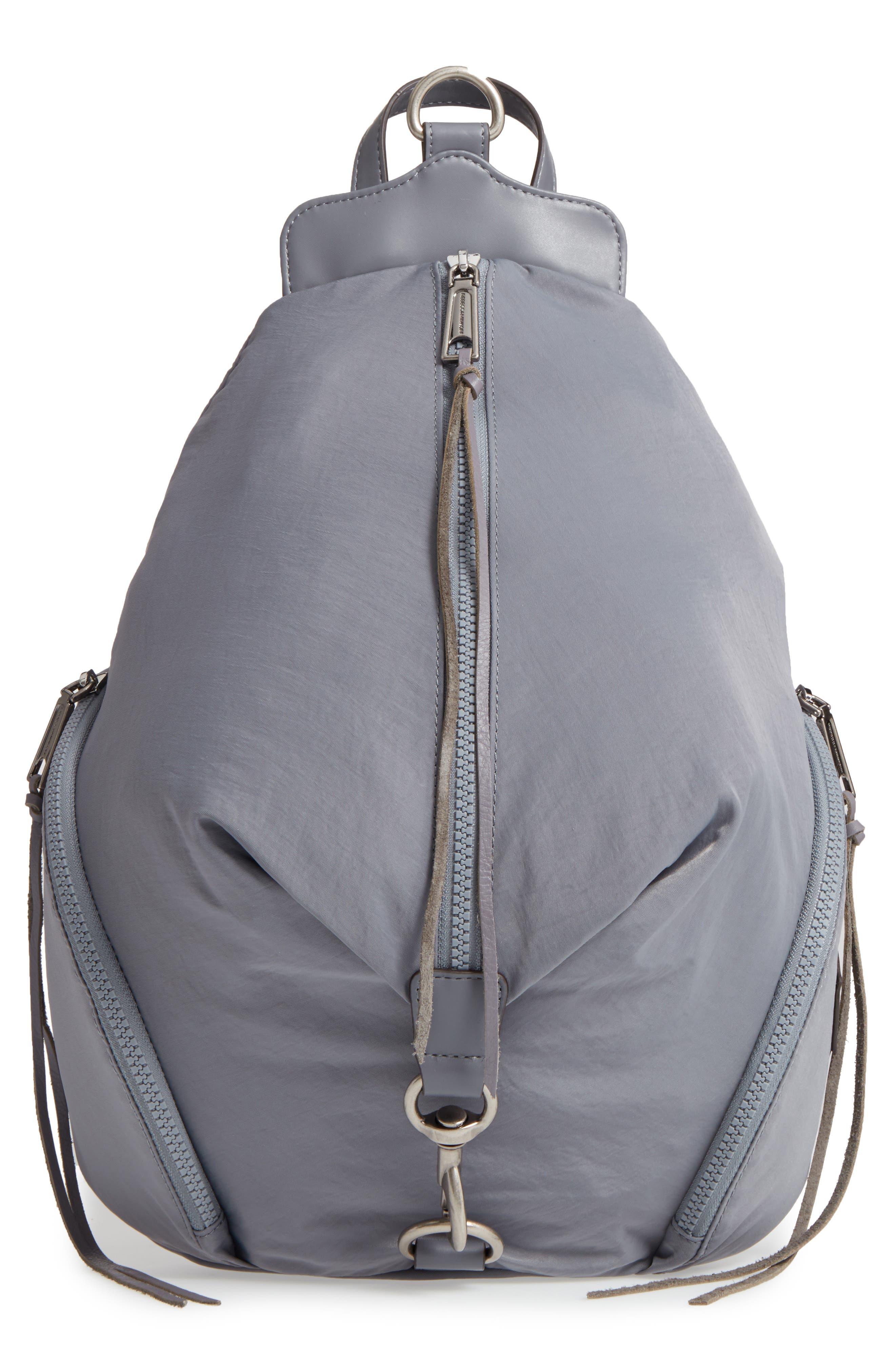 Julian Nylon Backpack,                         Main,                         color, GREY