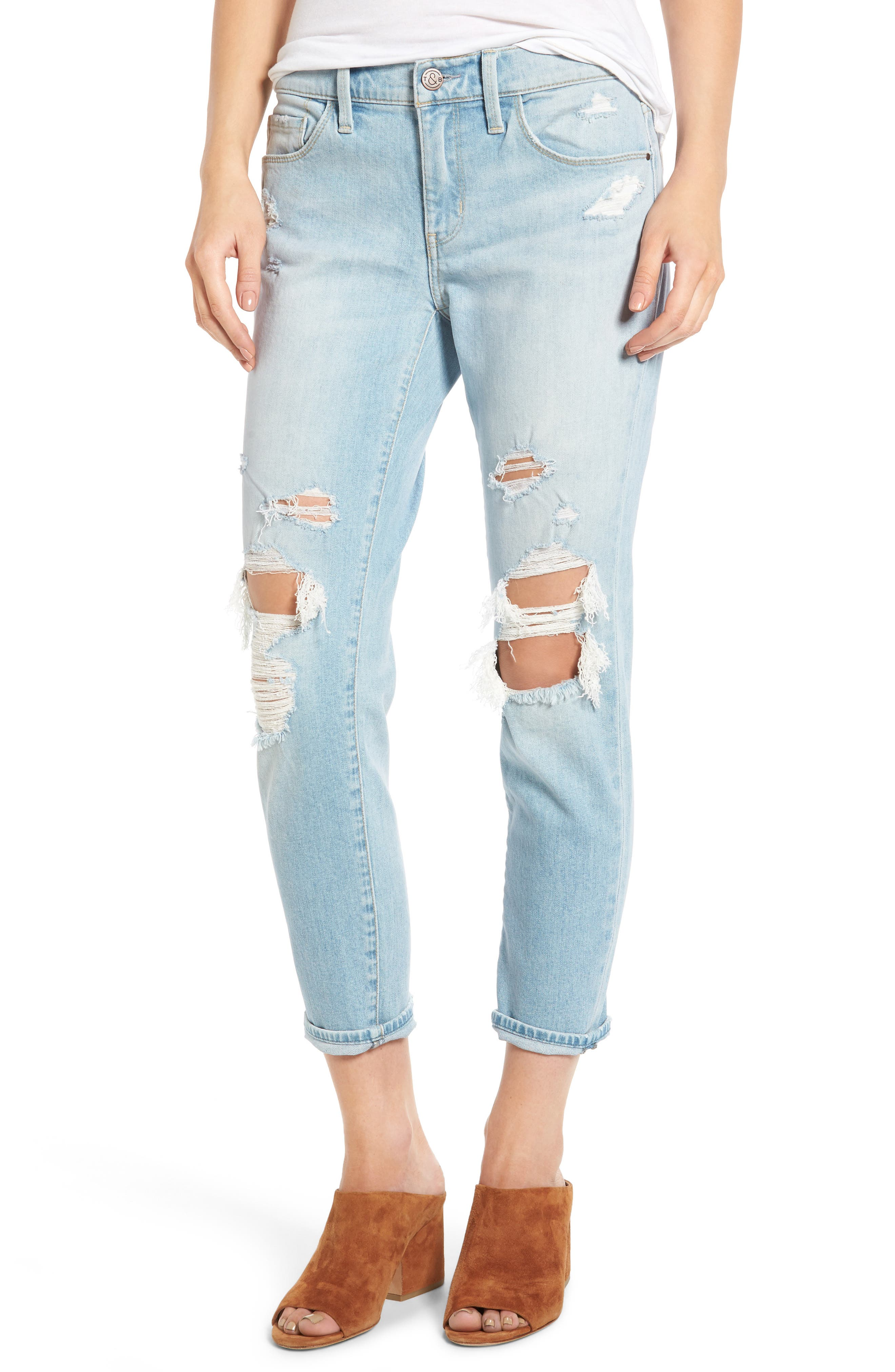 TREASURE & BOND,                             Skinny Boyfriend Jeans,                             Main thumbnail 1, color,                             400
