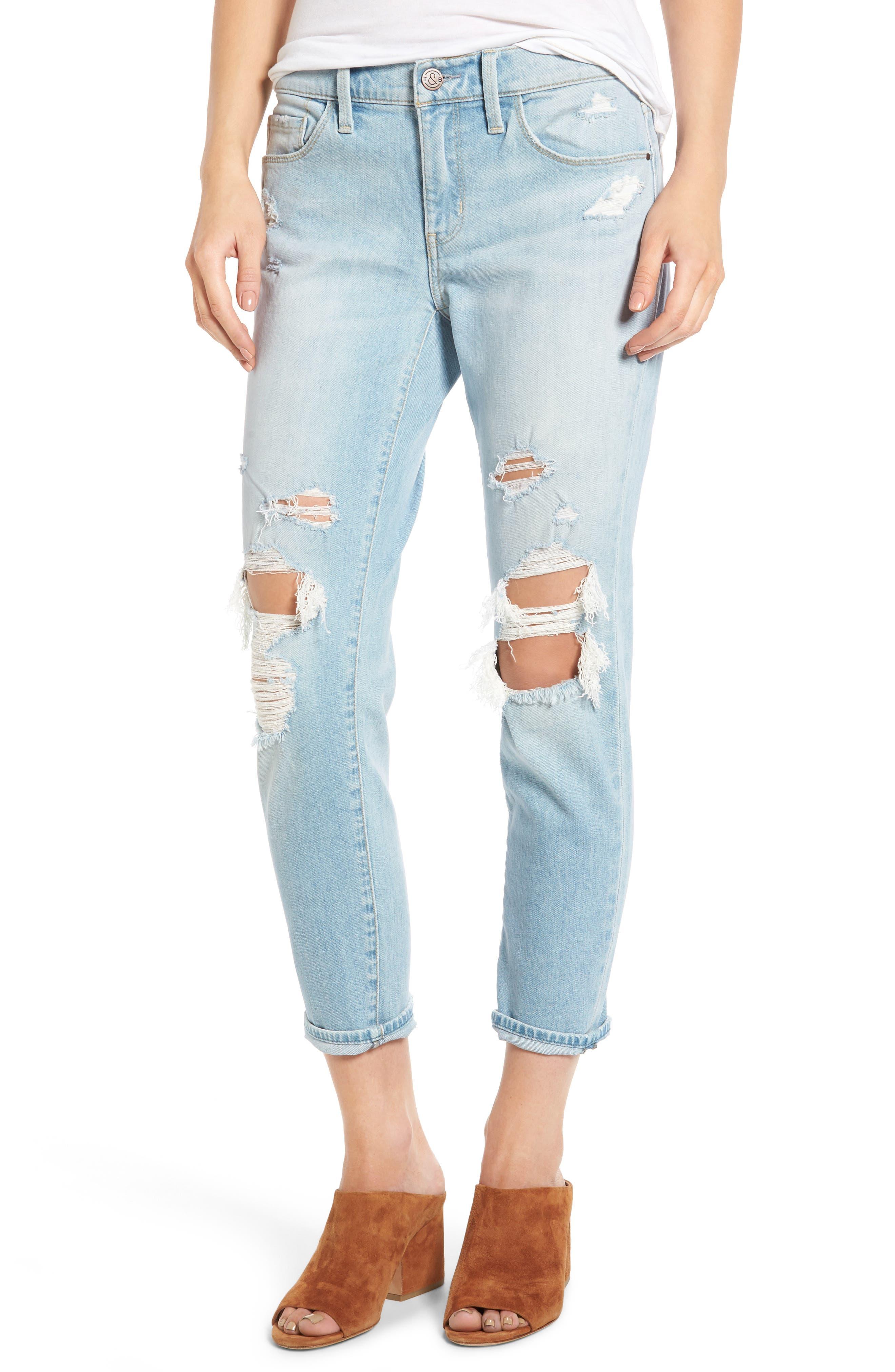 TREASURE & BOND Skinny Boyfriend Jeans, Main, color, 400